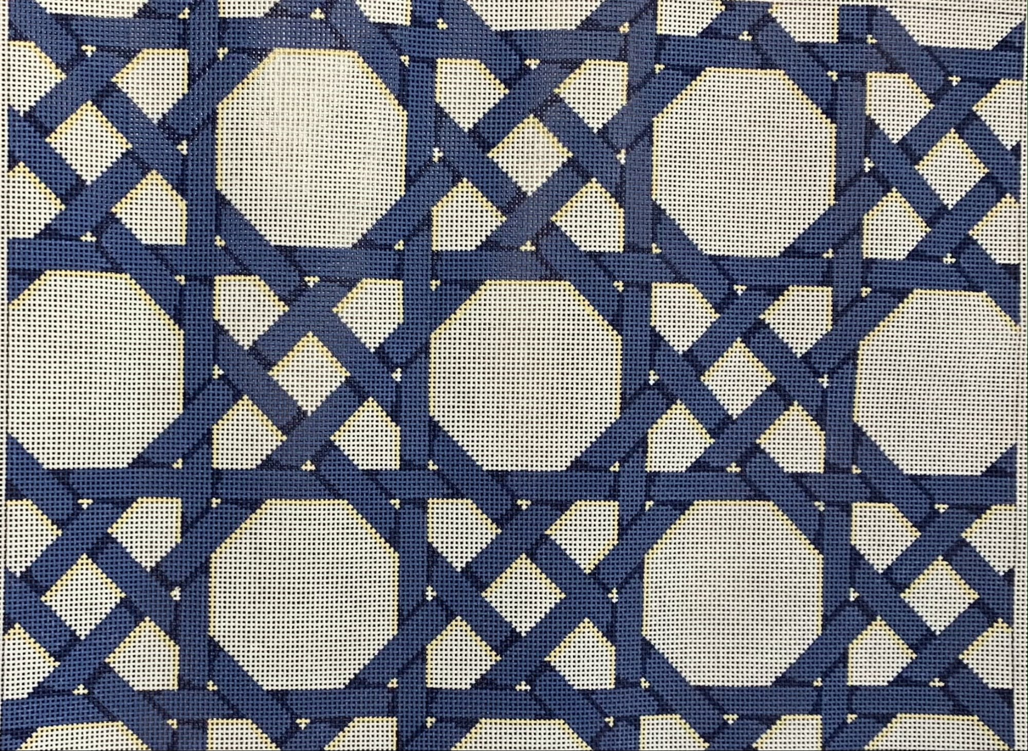 Blue/Cream Caning Pattern