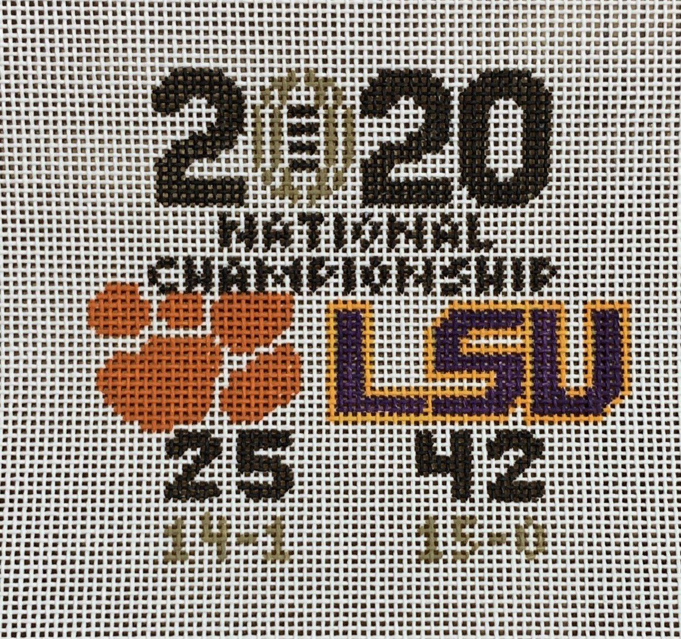 LSU Championship Score 2020
