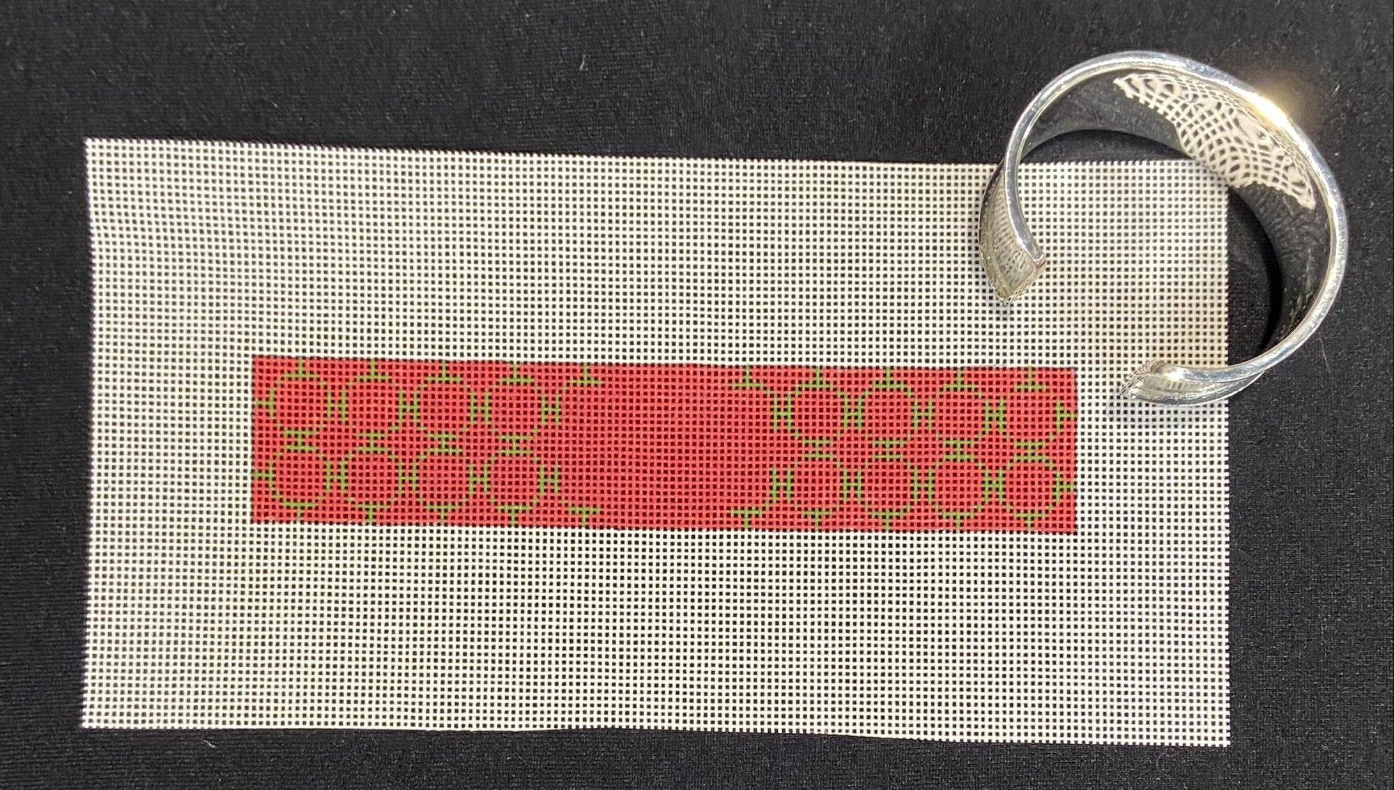 Channel Cuff Bracelet w/ Patterned Canvas