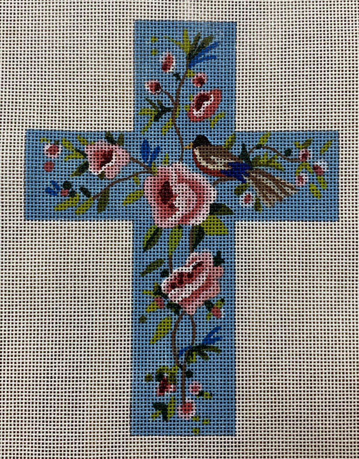 Floral w/Bird Cross