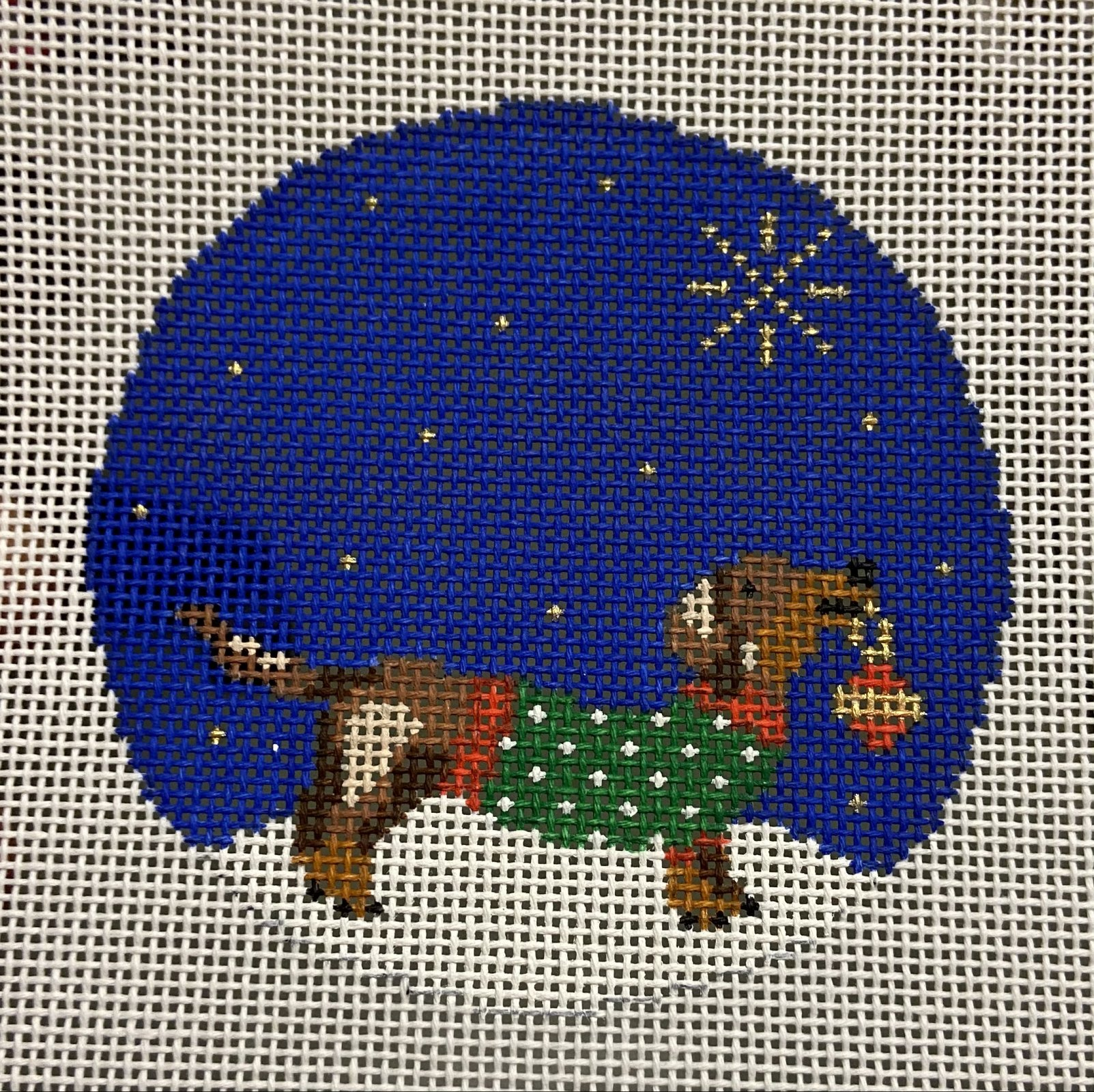 Midnight Dachshund Ornament
