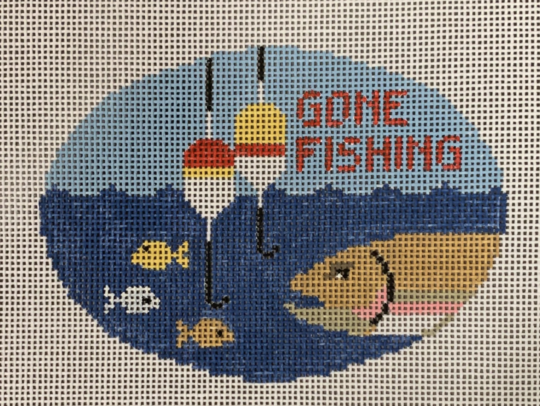 Gone Fishing Oval