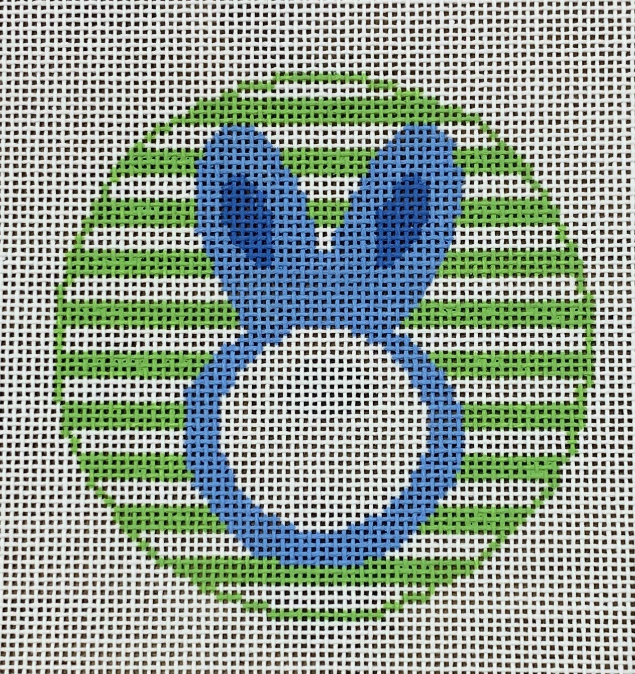Bunny Round - blank space for monogram