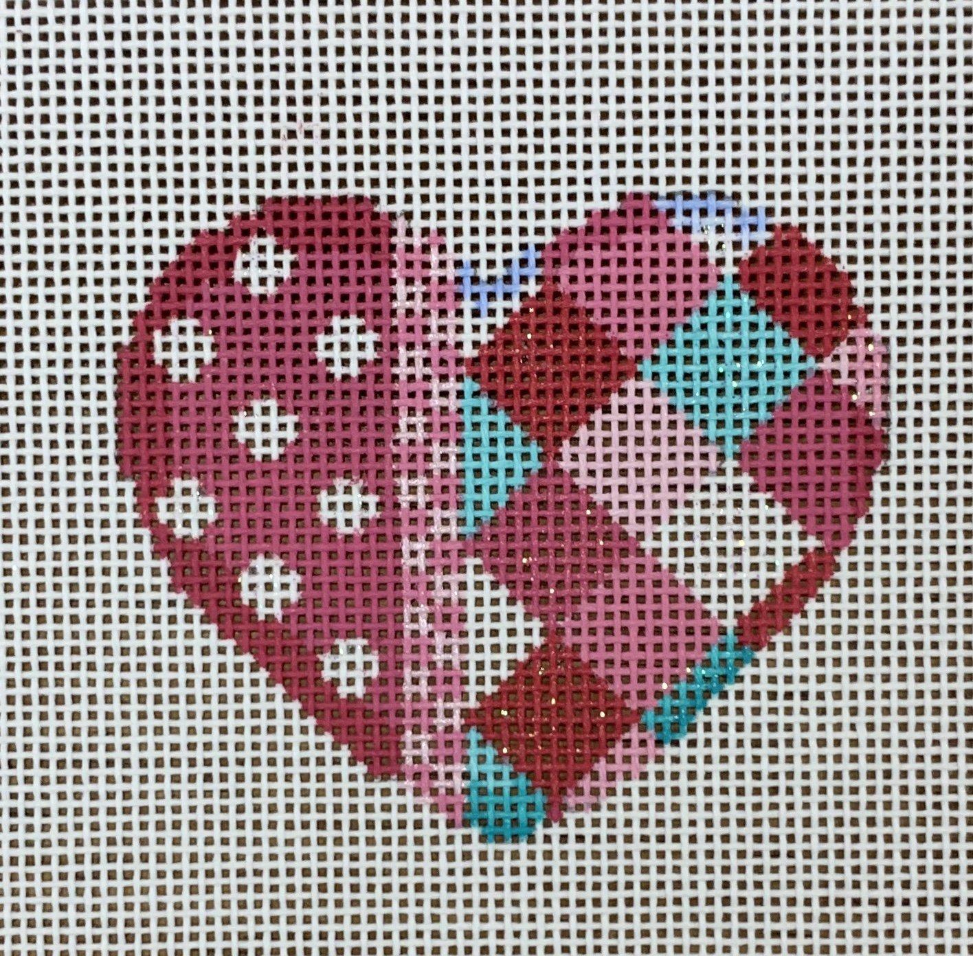 ATTSHE670 Coin Dot/Harlequin Mini Heart  2.75x2.5  18