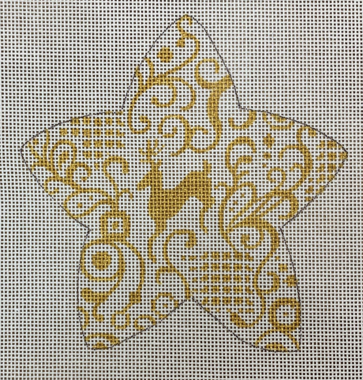 Gold Filigree Reindeer Star