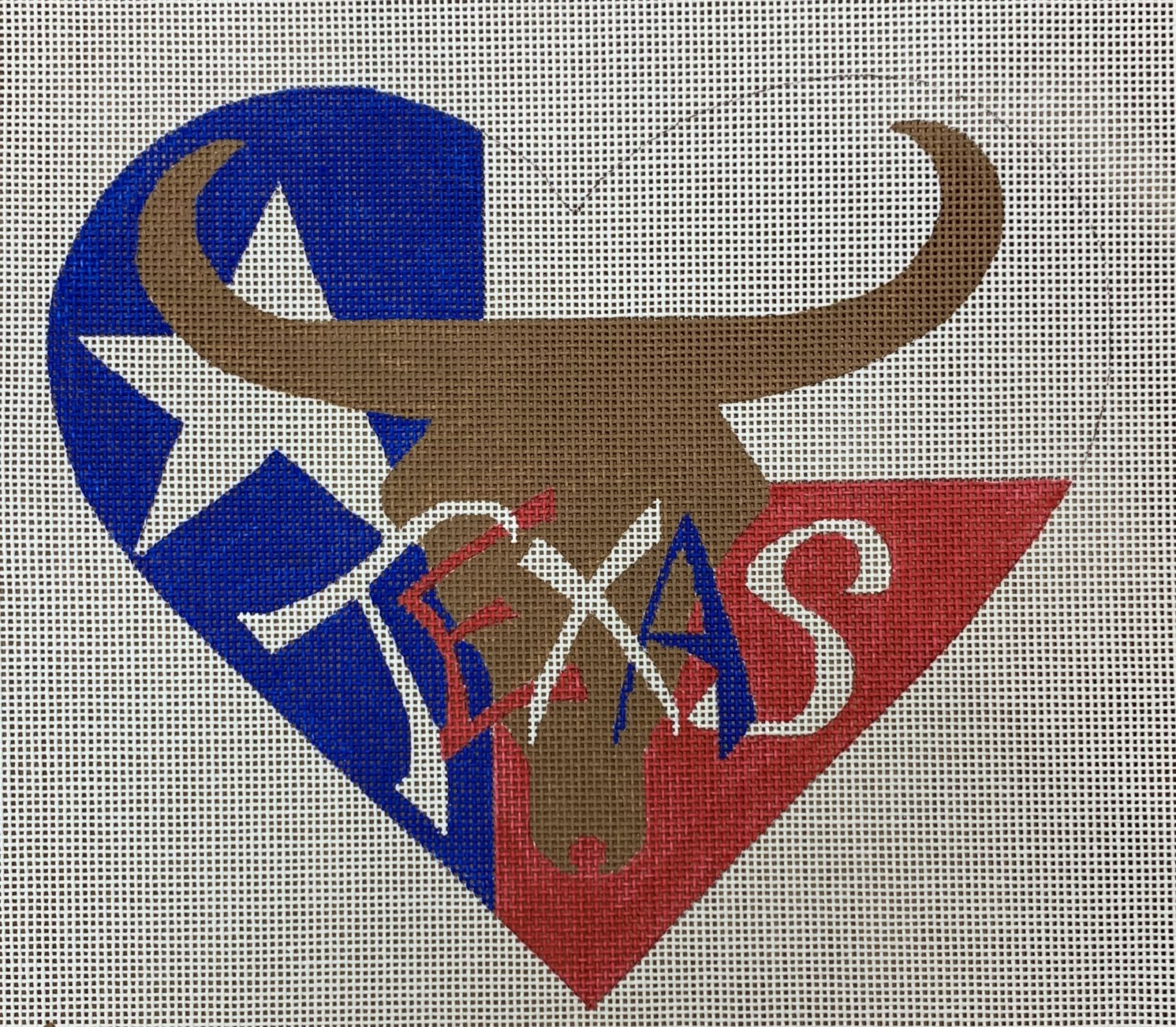 Texas Heart w/Longhorn