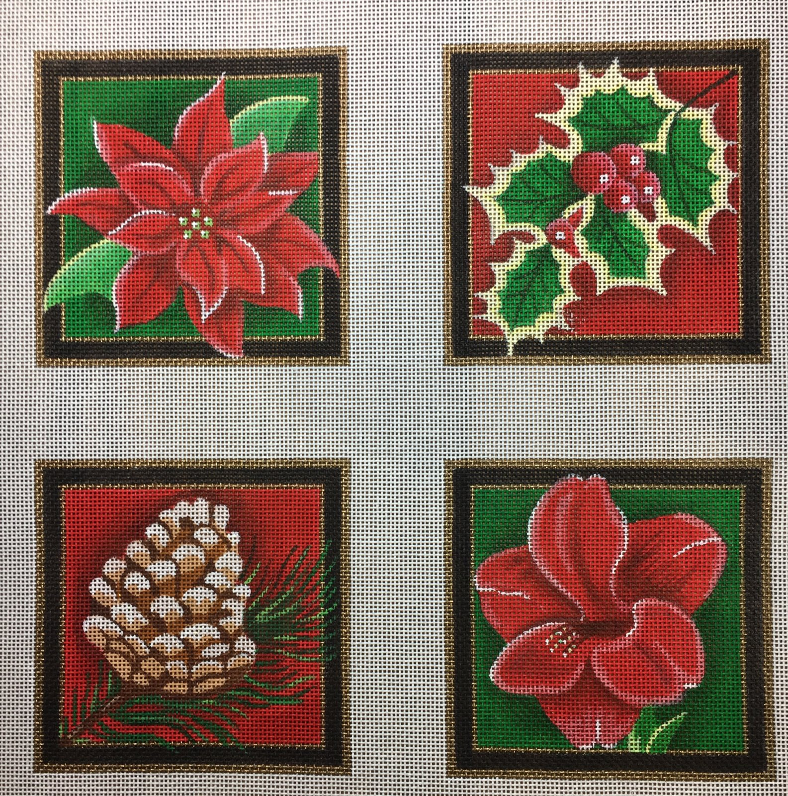 Christmas Floral Coasters