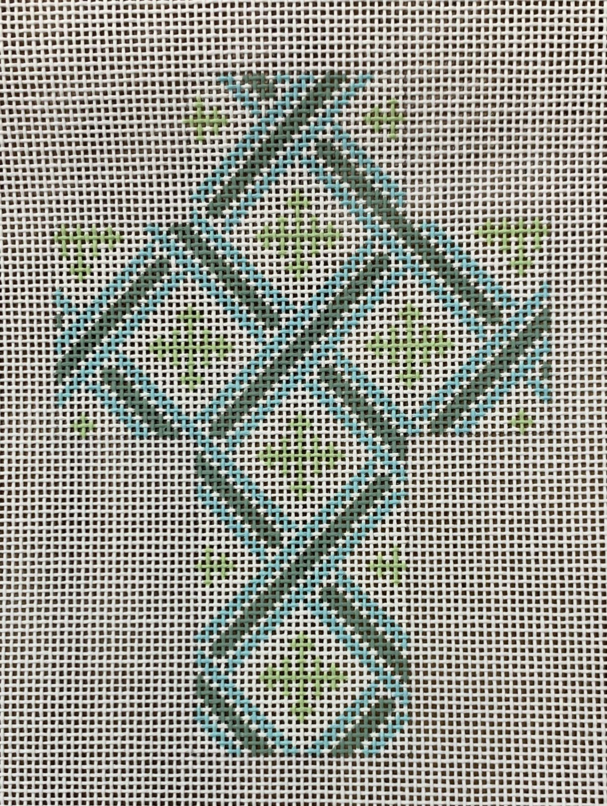 Green and Aqua Cross