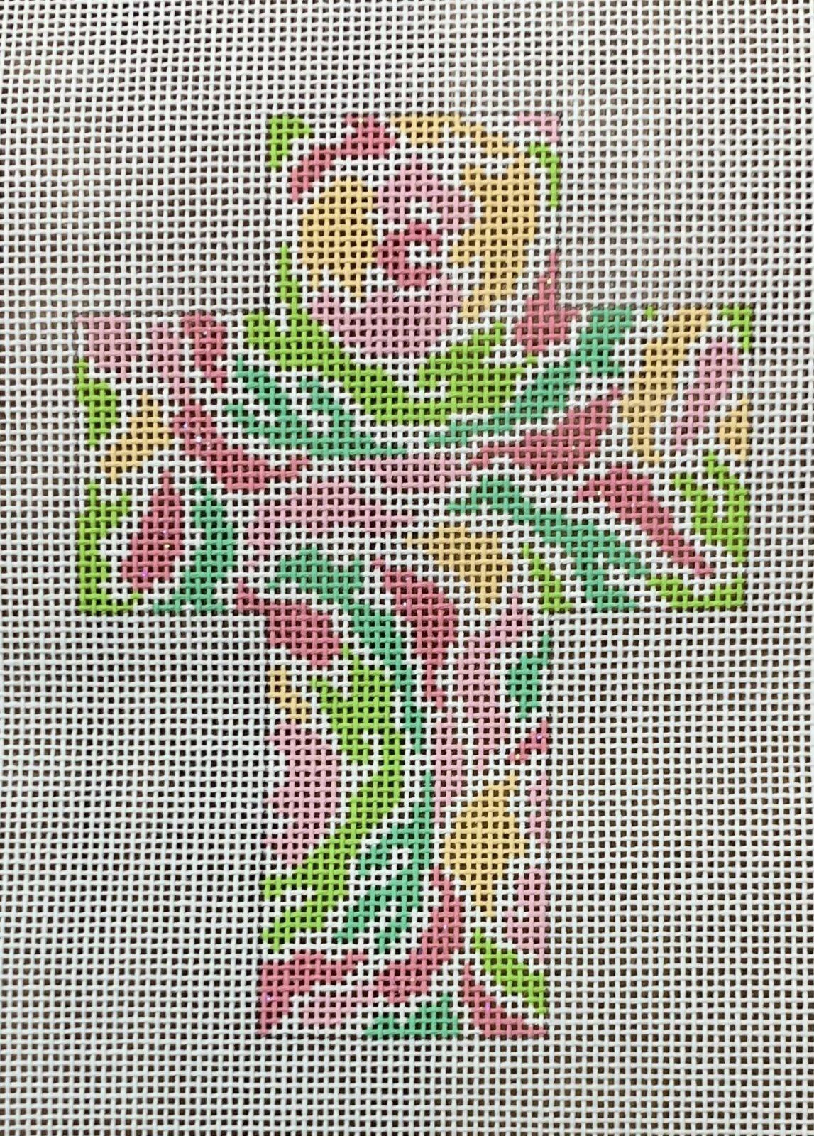 Pink Floral Watercolor Cross