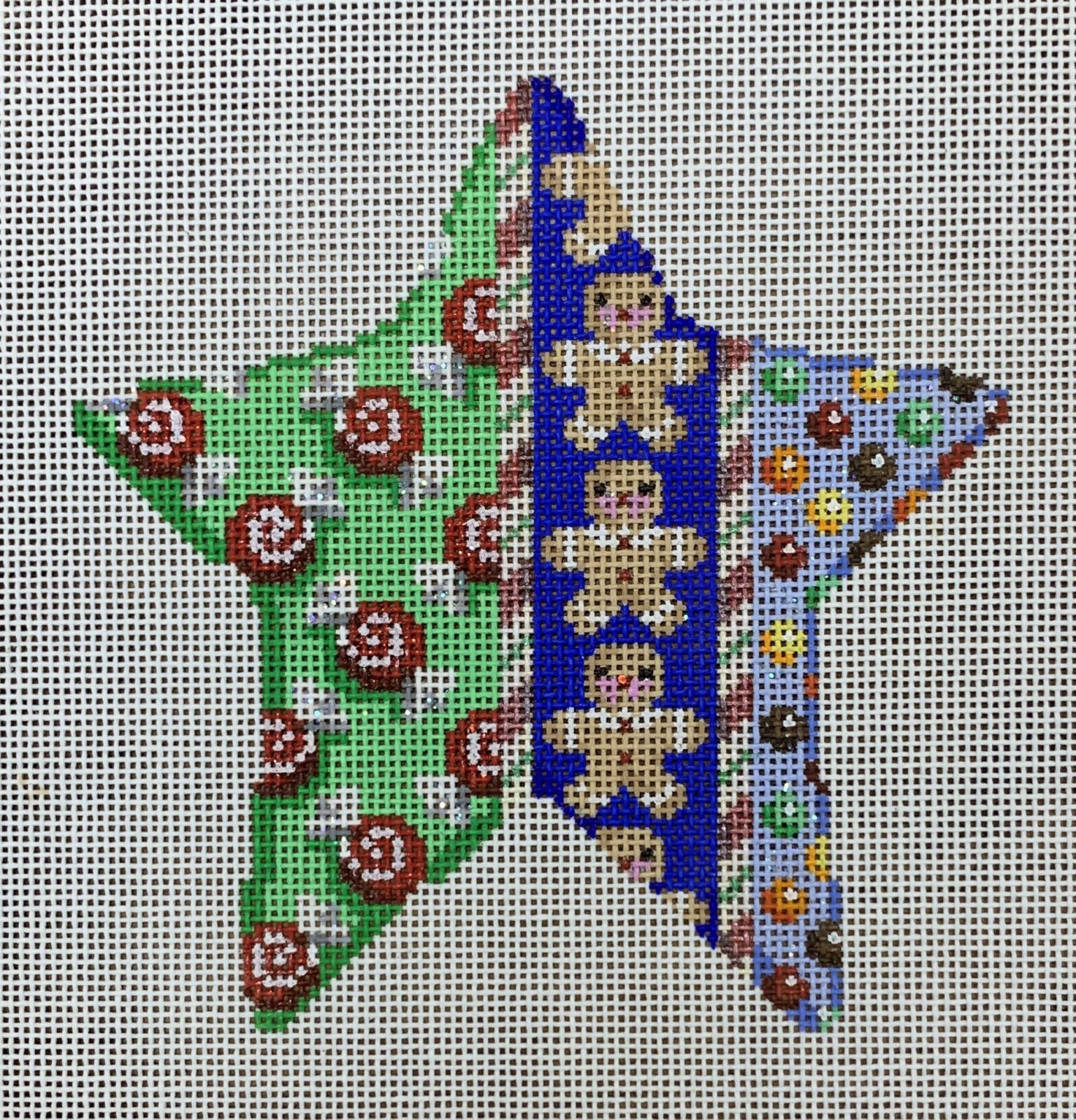 ATTSCT1705 Gingerbread and Mints Star  4.75x5  18