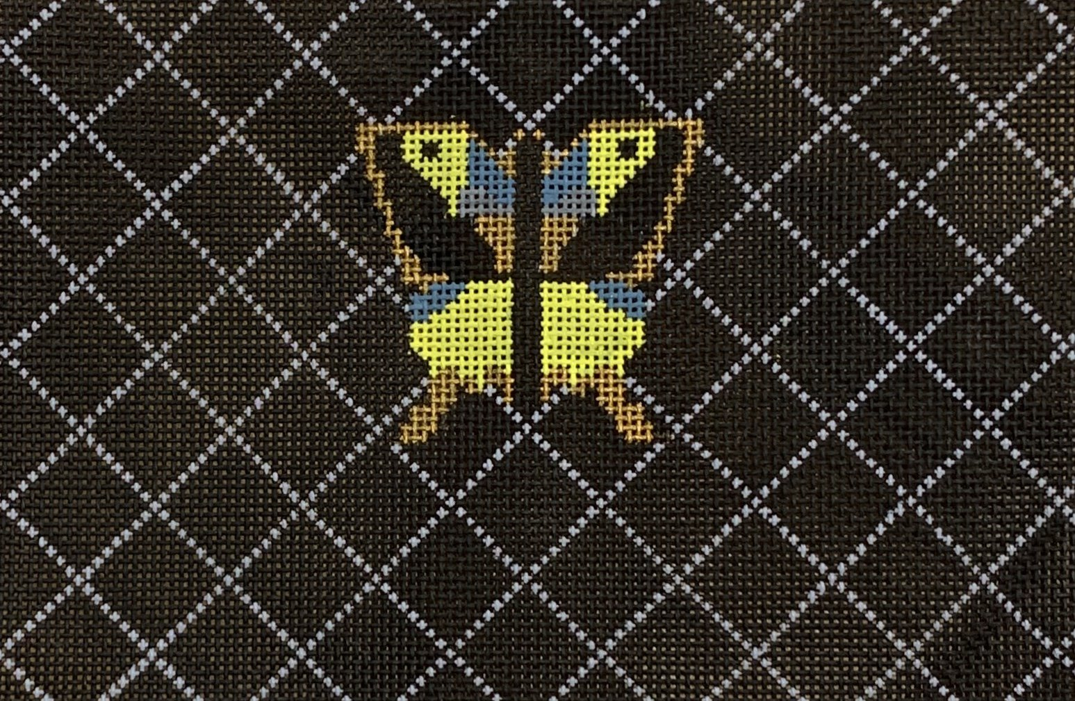 Limited Edition Quilted Black Butterfly Clutch