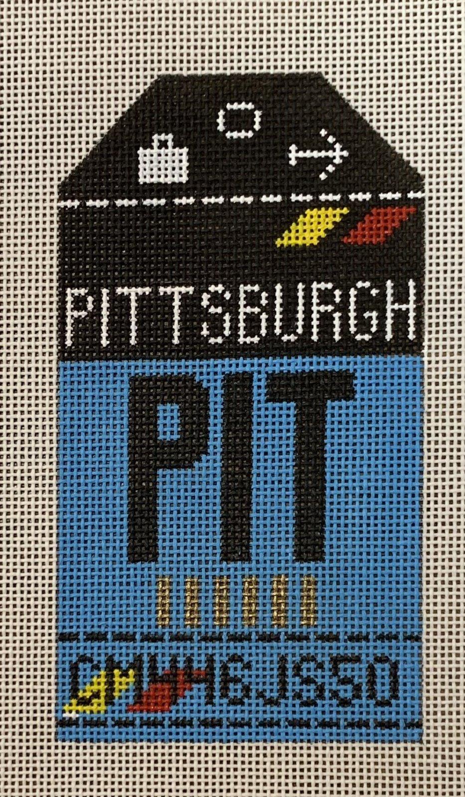 Vintage Luggage Tag - Pittsburgh