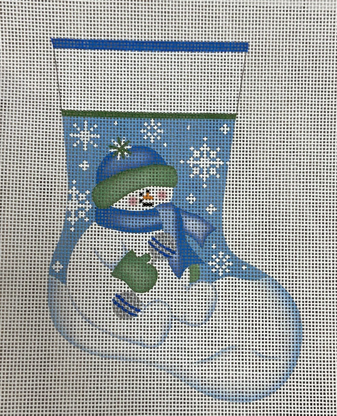Baby Boy Snowman mini sock