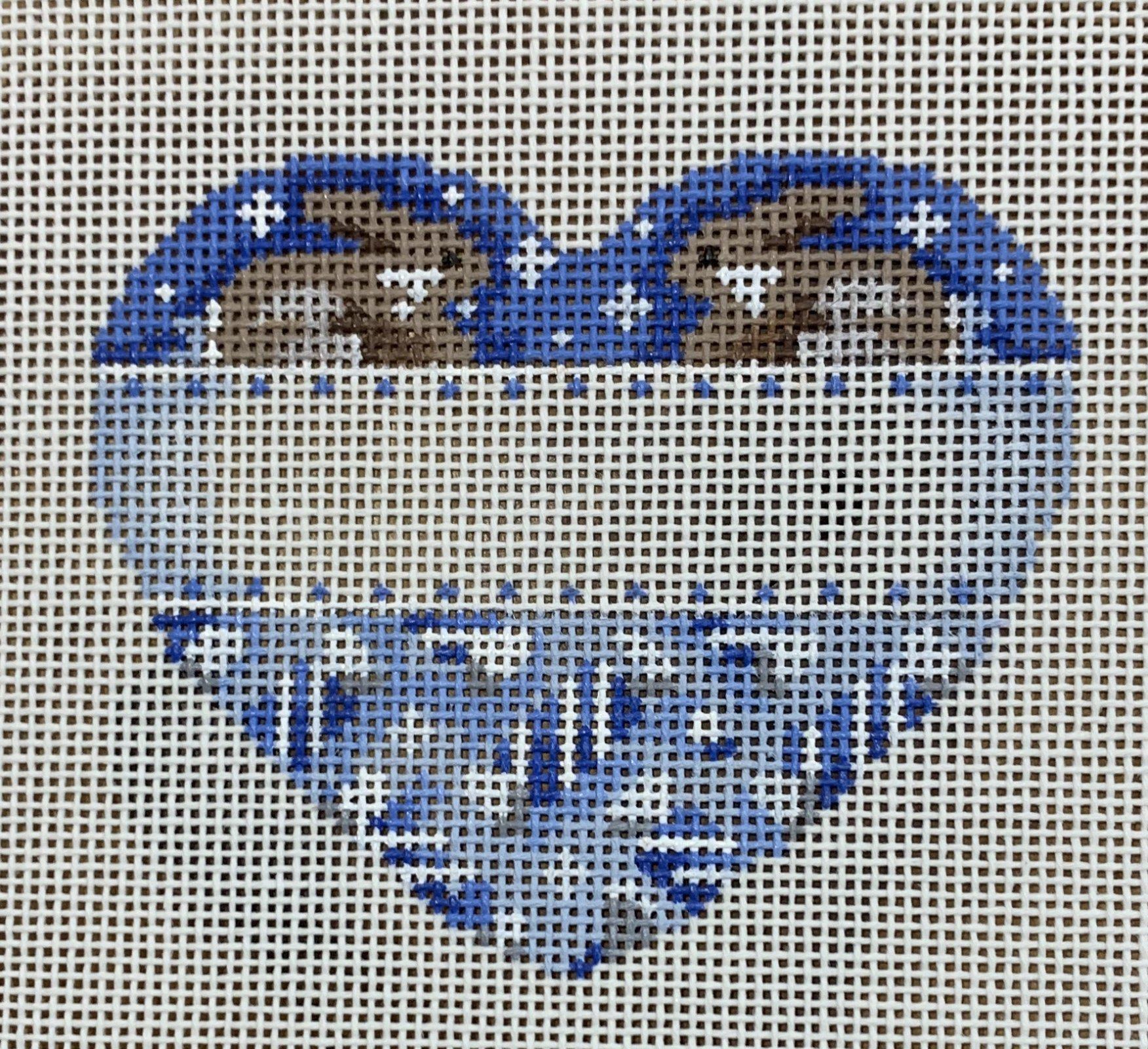 ATTSCT1227 Blue Bunnies Heart  3.5x3  18