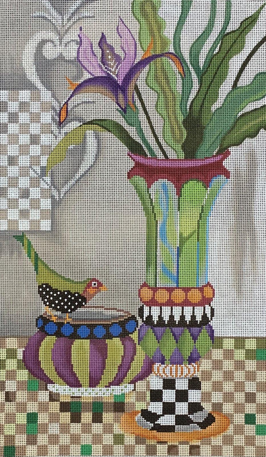 Vases and Bird