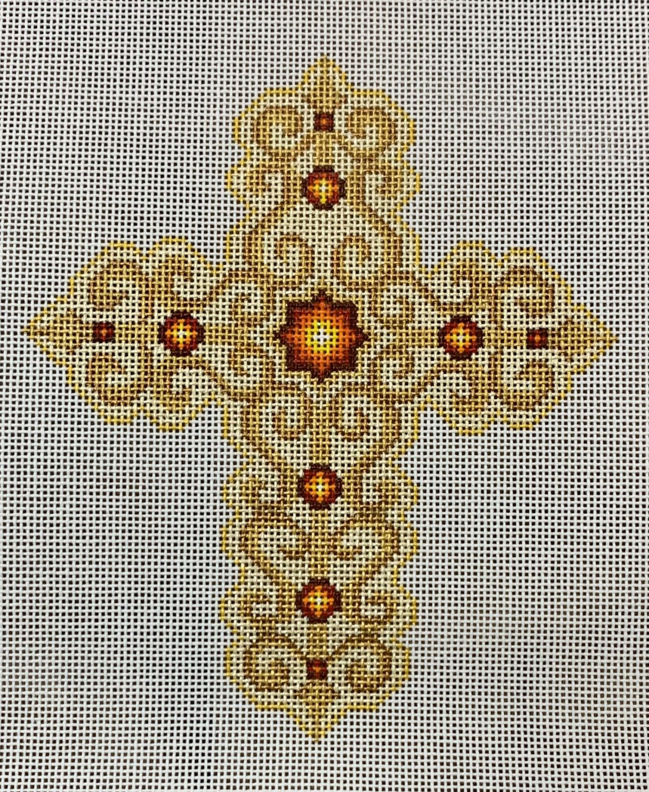 Cross - Gold w/ Red Jewels