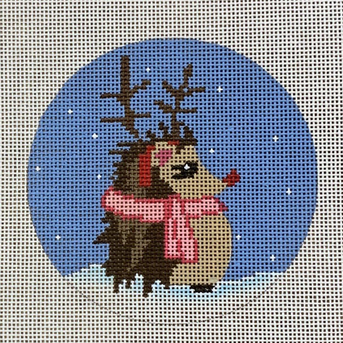 Reindeer Hedgehog Ornament