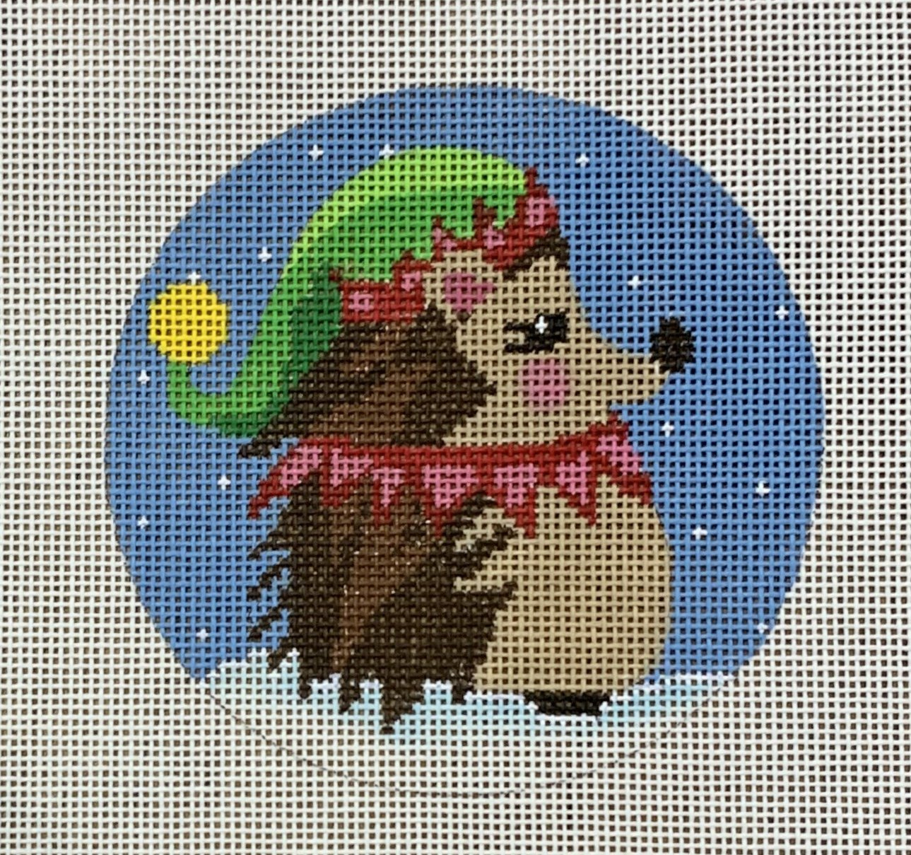 Elf Hedgehog Ornament