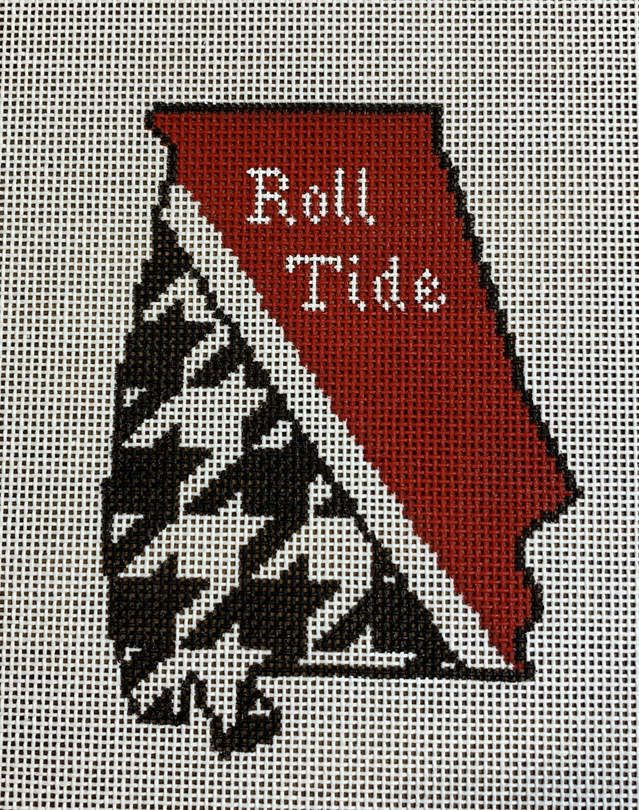 Alabama State Shape Roll Tide