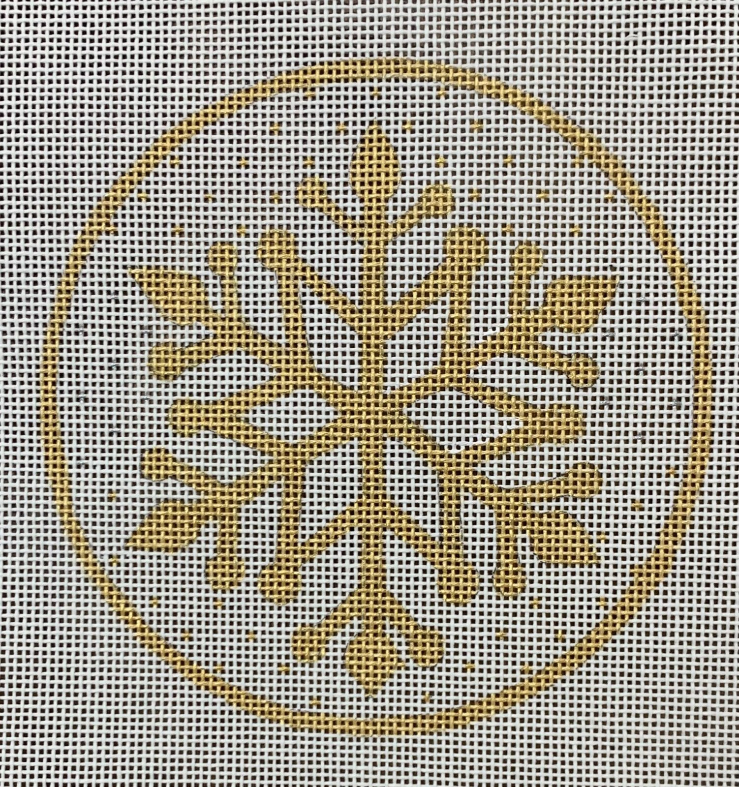 Gold Snowflake Ornament