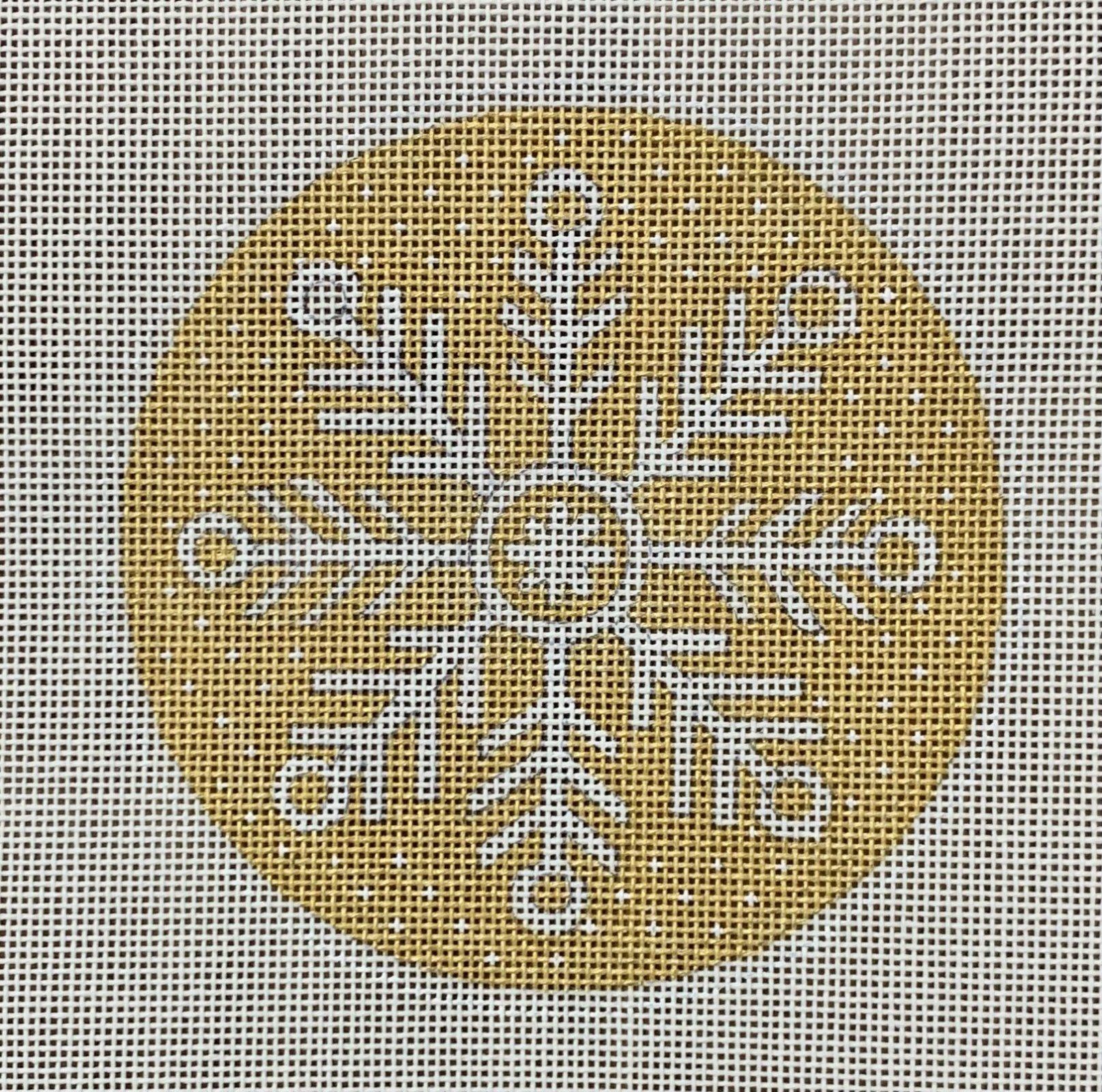 Gold Snowflake Ornament 1