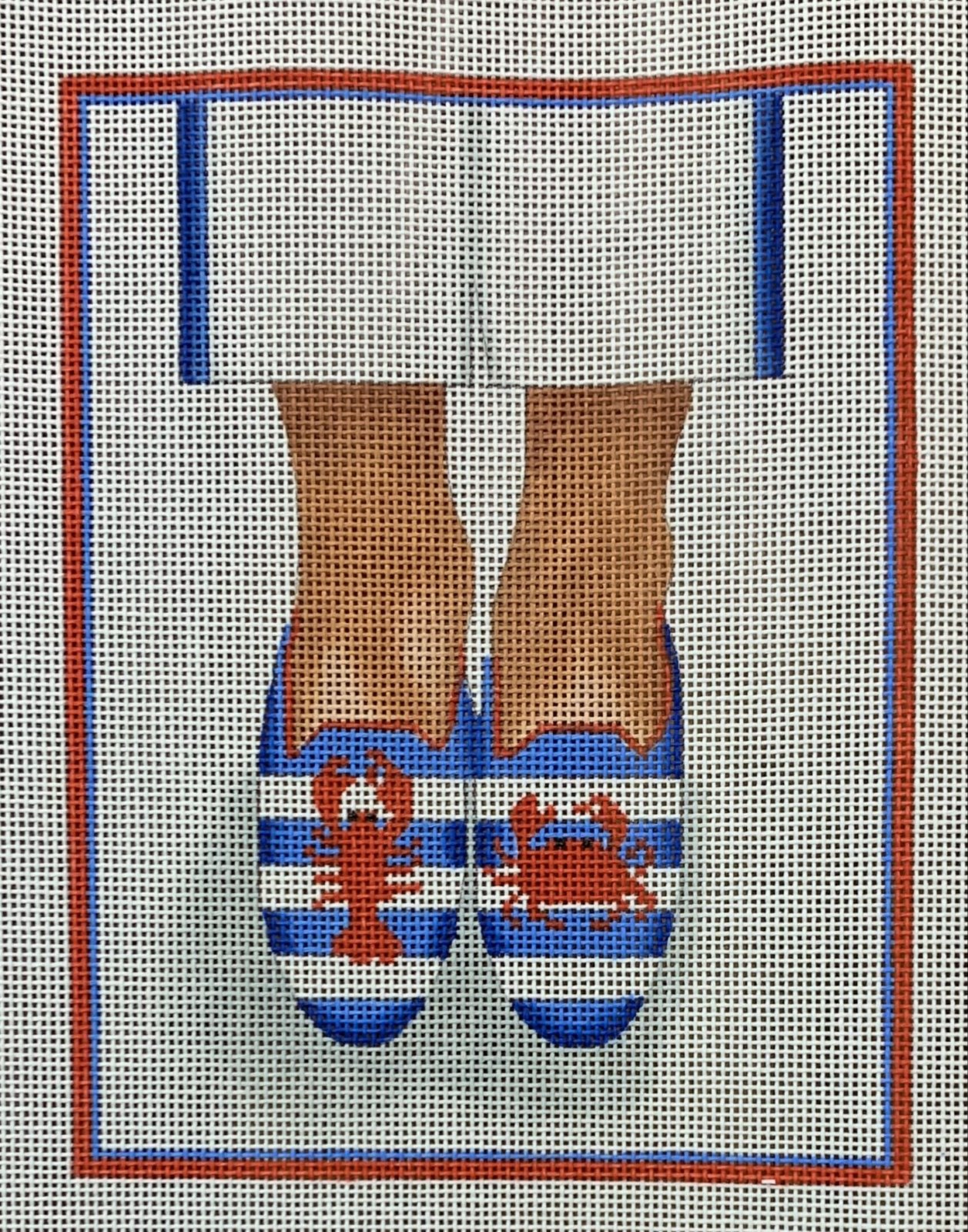 Here's Looking at Shoe - Needlepoint Lobster/Crab Loafers