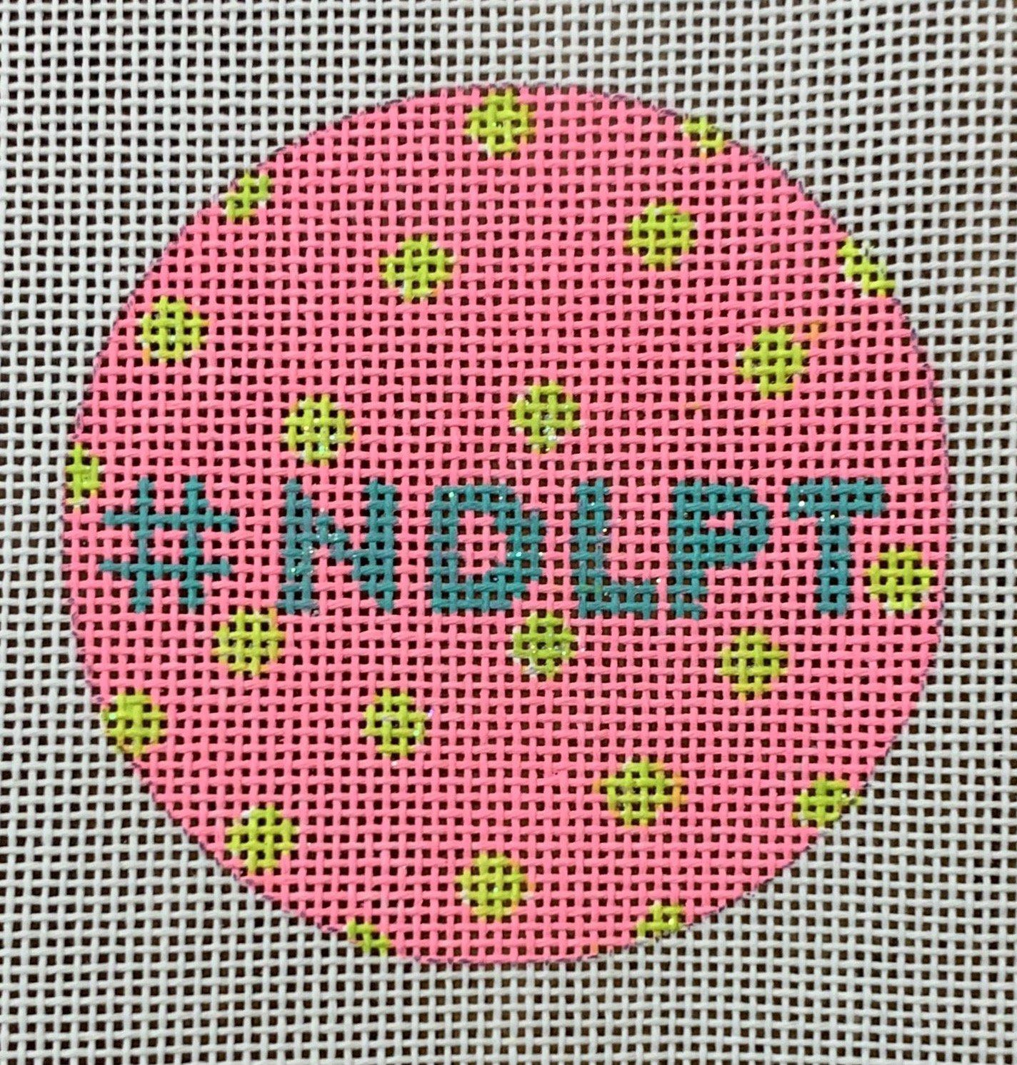 3 Round #NDLPT Hot Pink w/lime polka dots