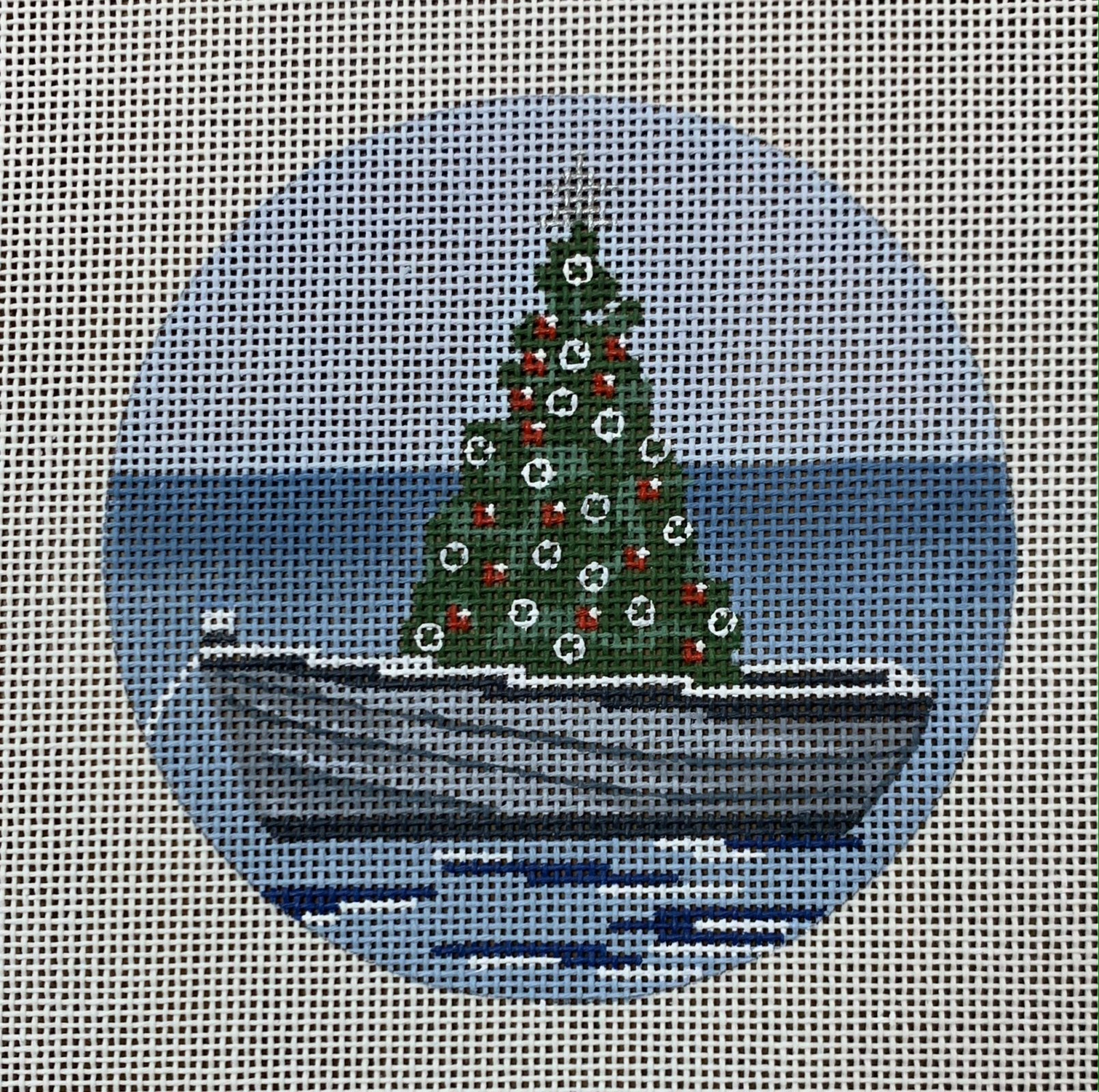 Nantucket Boat with Tree