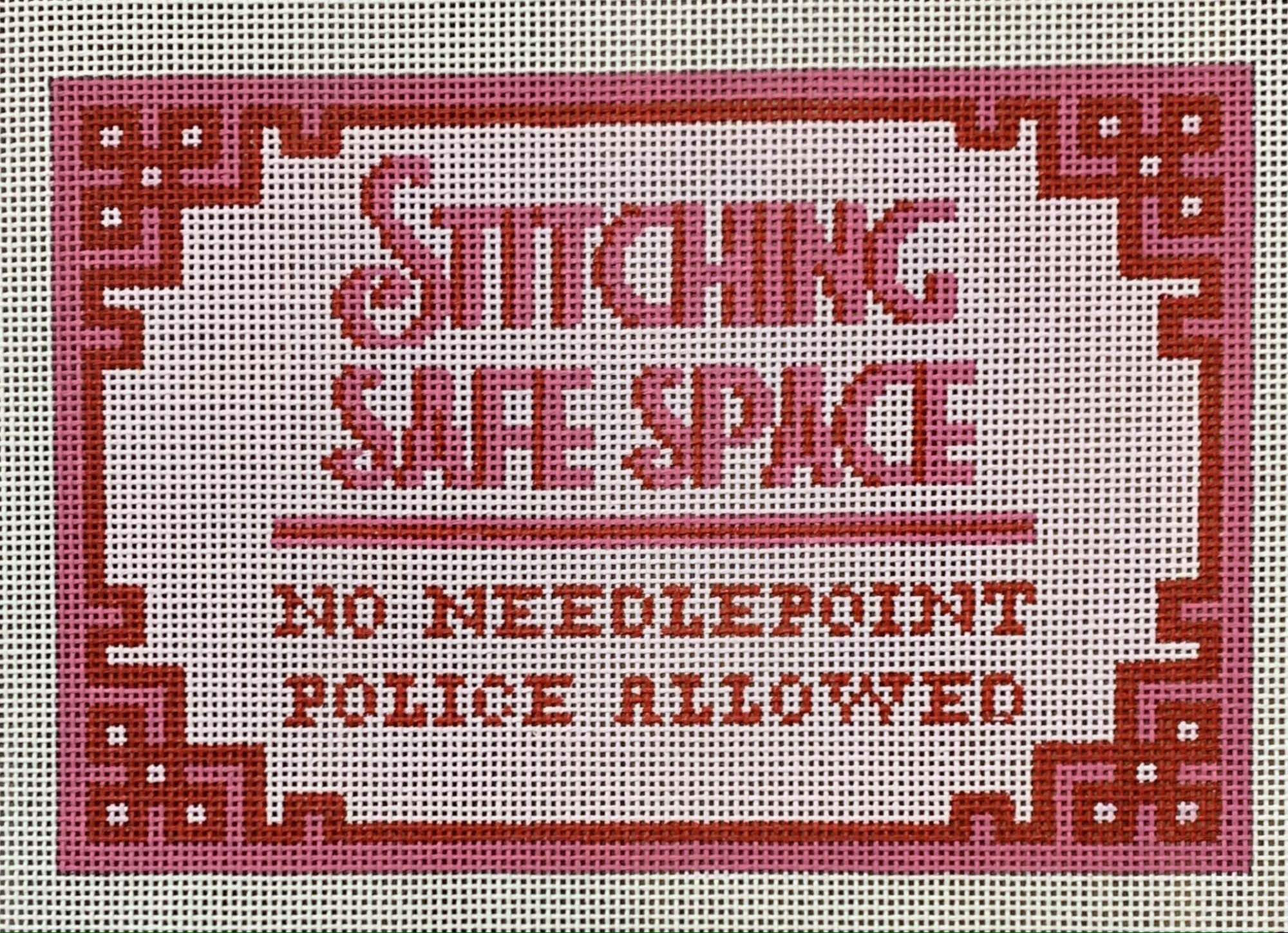 Stitching Safe Space Pink/Red