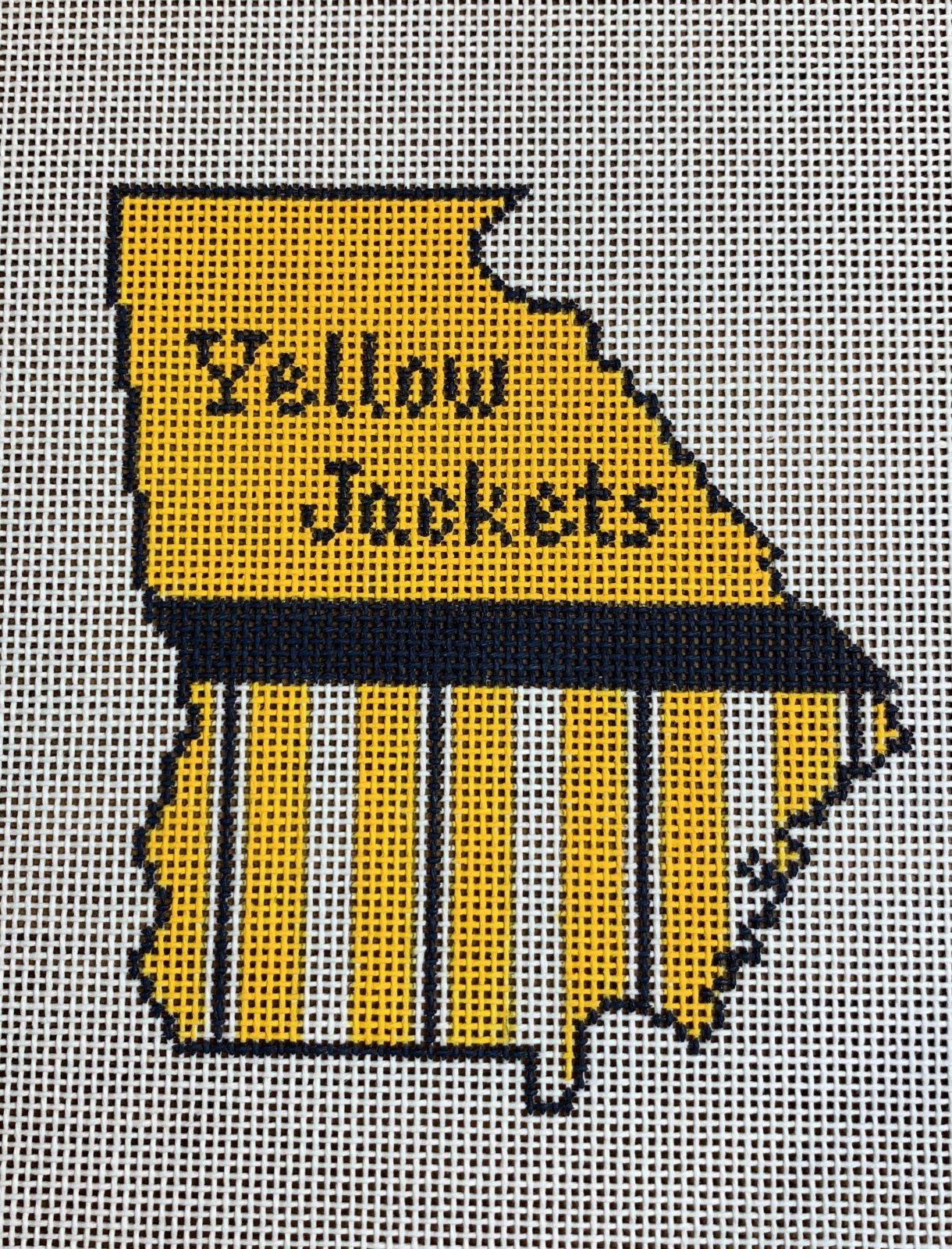 Georgia State Shape Yellow Jackets