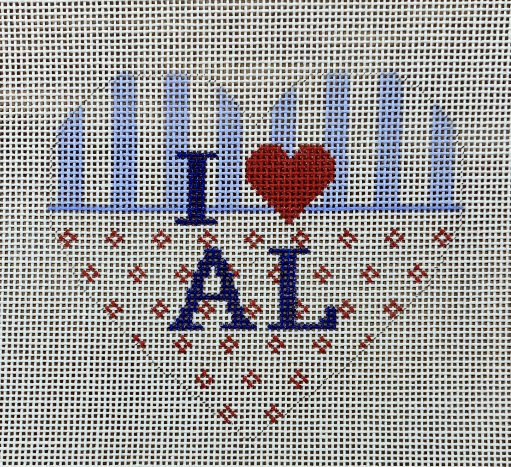 Heart Ornament - State Love AL