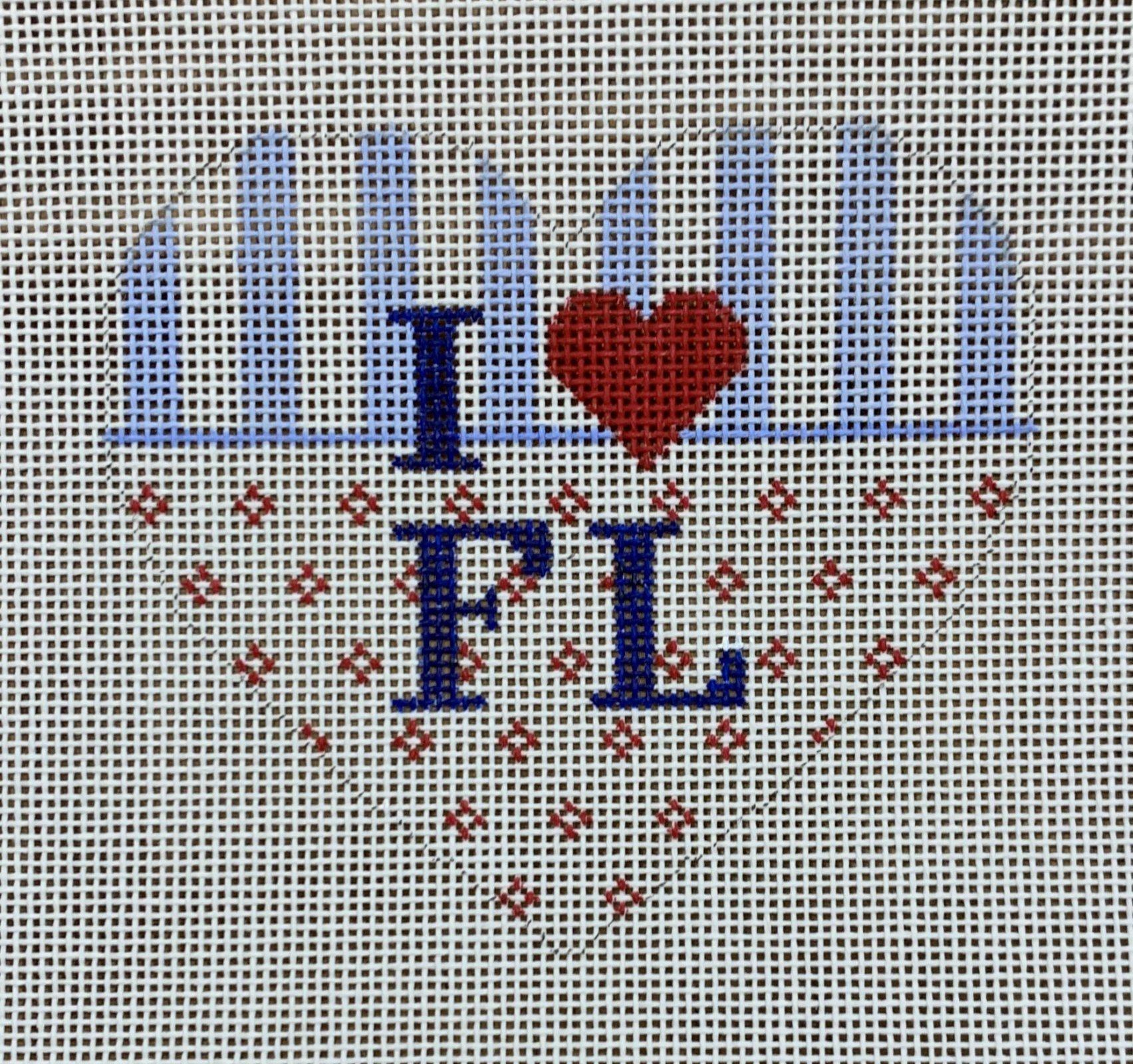 Heart Ornament - State Love FL