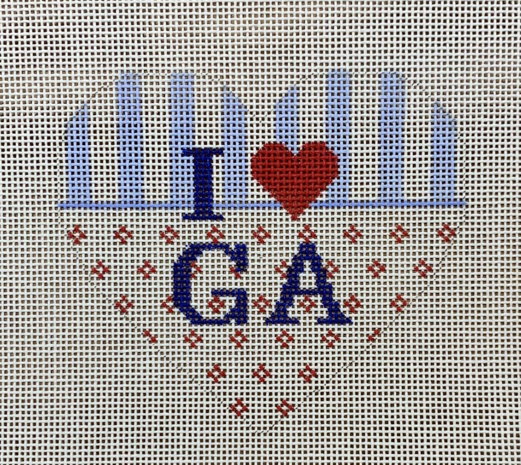 Heart Ornament - State Love GA