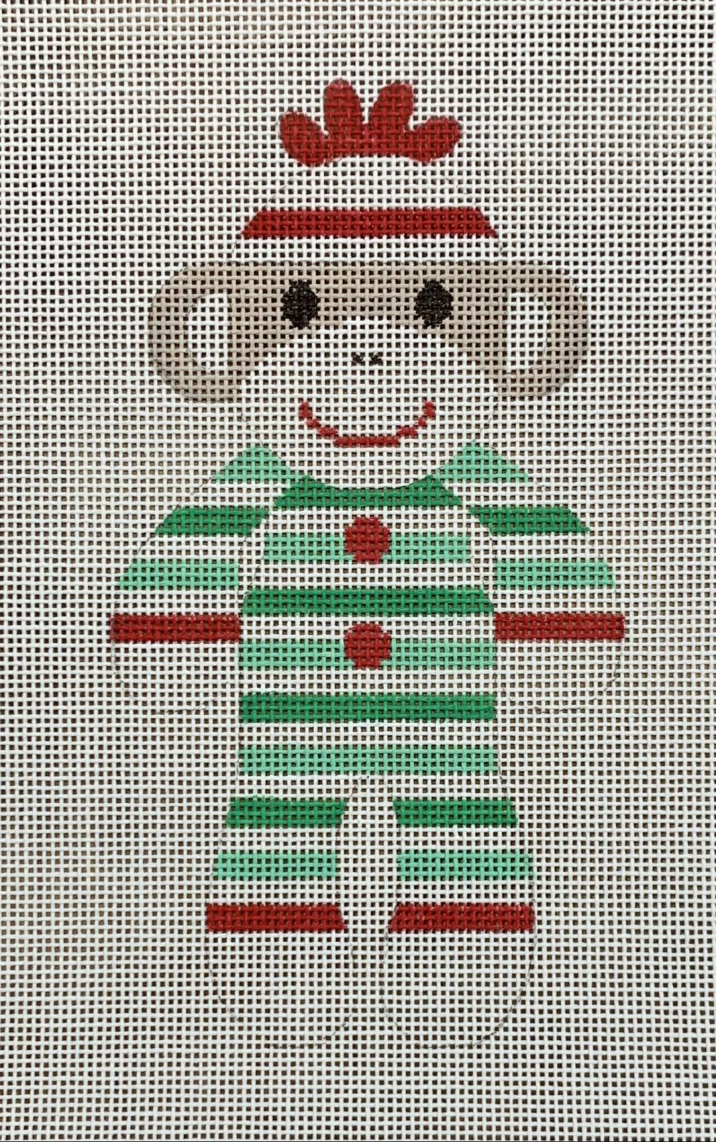 Sock Monkey - Christmas Stripe PJs