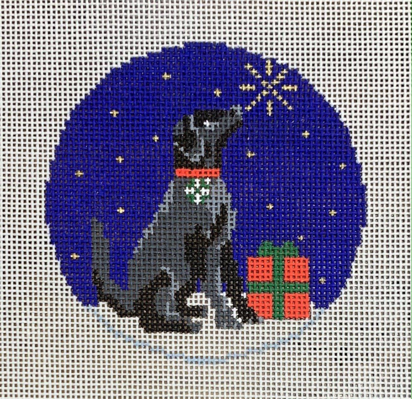 Midnight Black Labrador Round