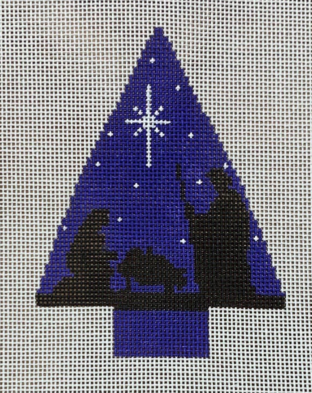 Tree with Nativity Scene