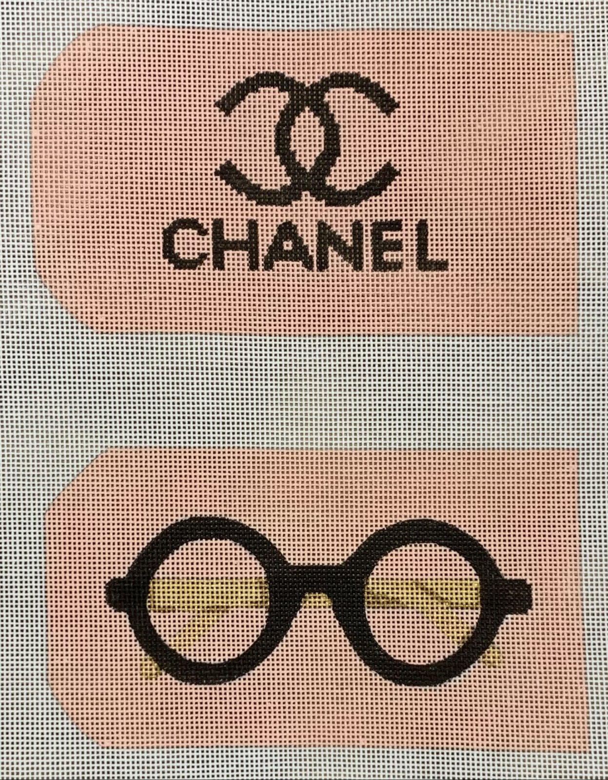 Glasses/Phone Case - Chanel w/Logo & Signature Round Glasses