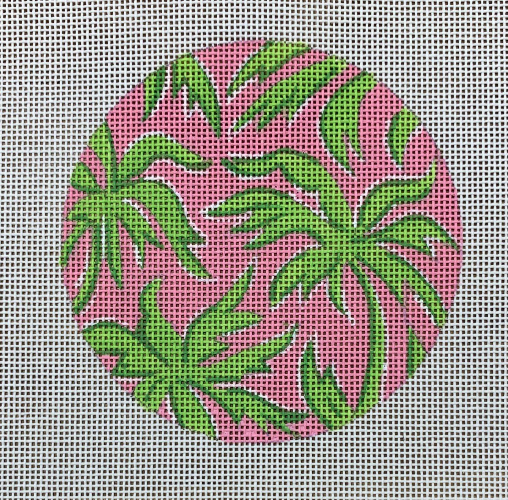 Palm Trees Pink Round Insert