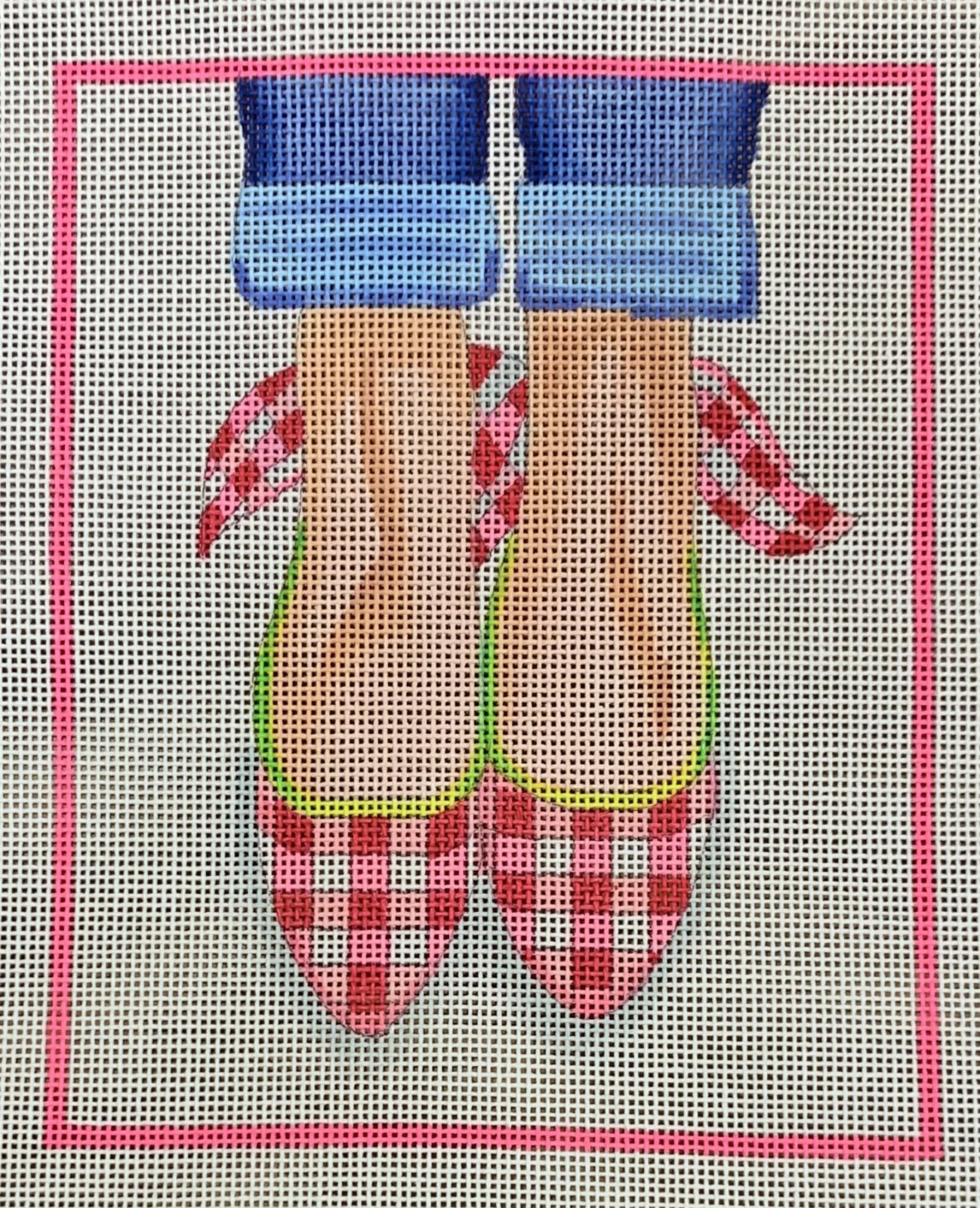 Here's Looking at Shoe - Gingham Wedges w/Bows on the Backs