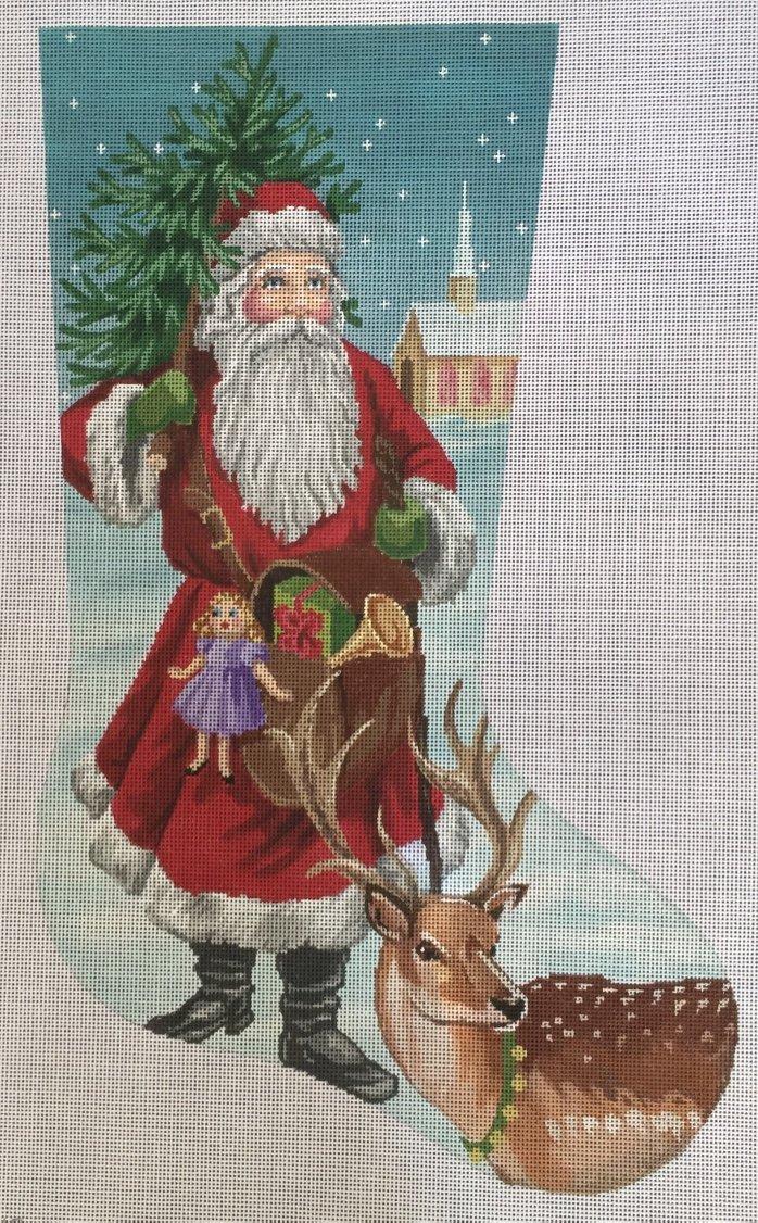 LL648 Old World Santa Stocking