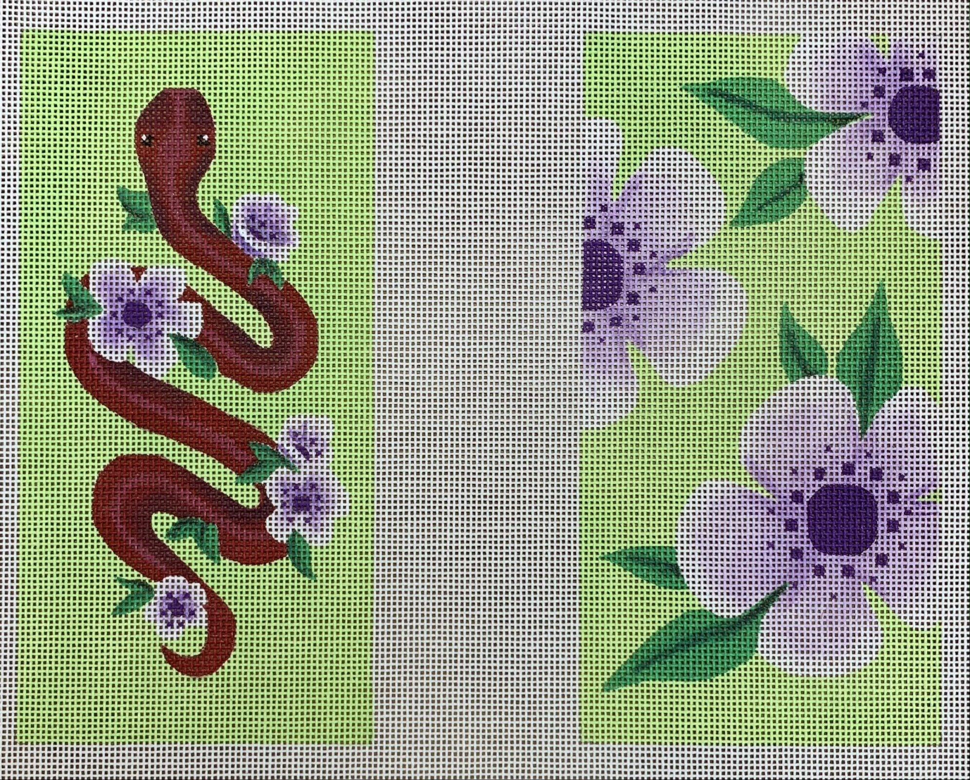 Floral Snake Eyeglass Case