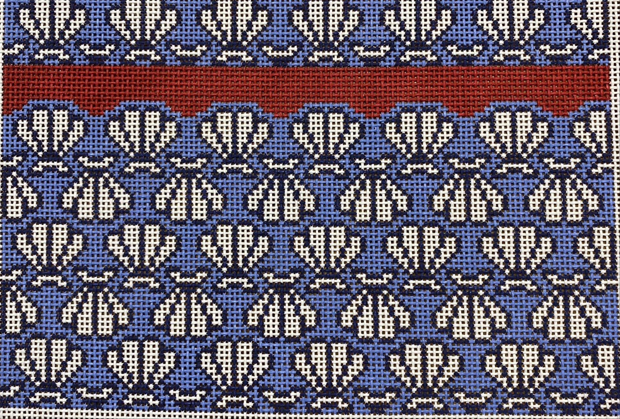 She Sells Seashells Clutch (red,white,blue)