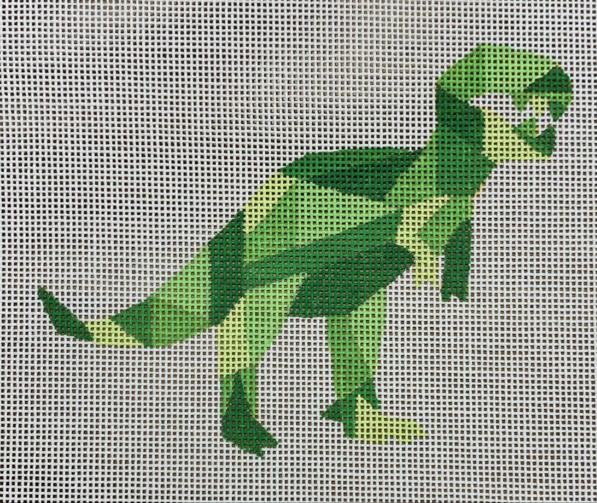 Green Geometric Dinosaur