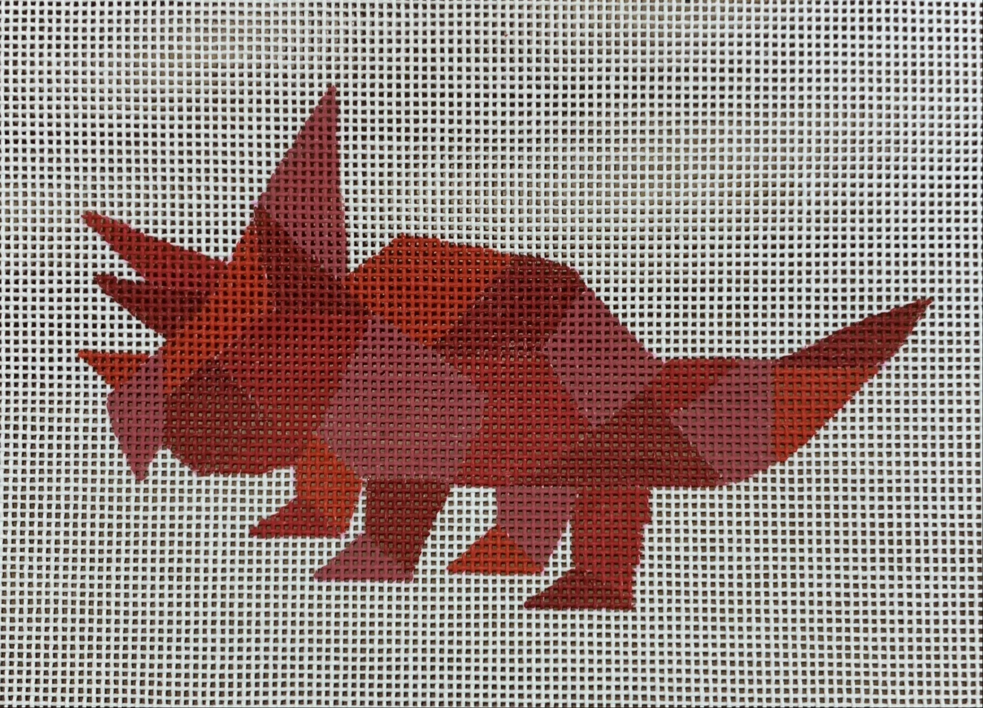 Red Geometric Dinosaur