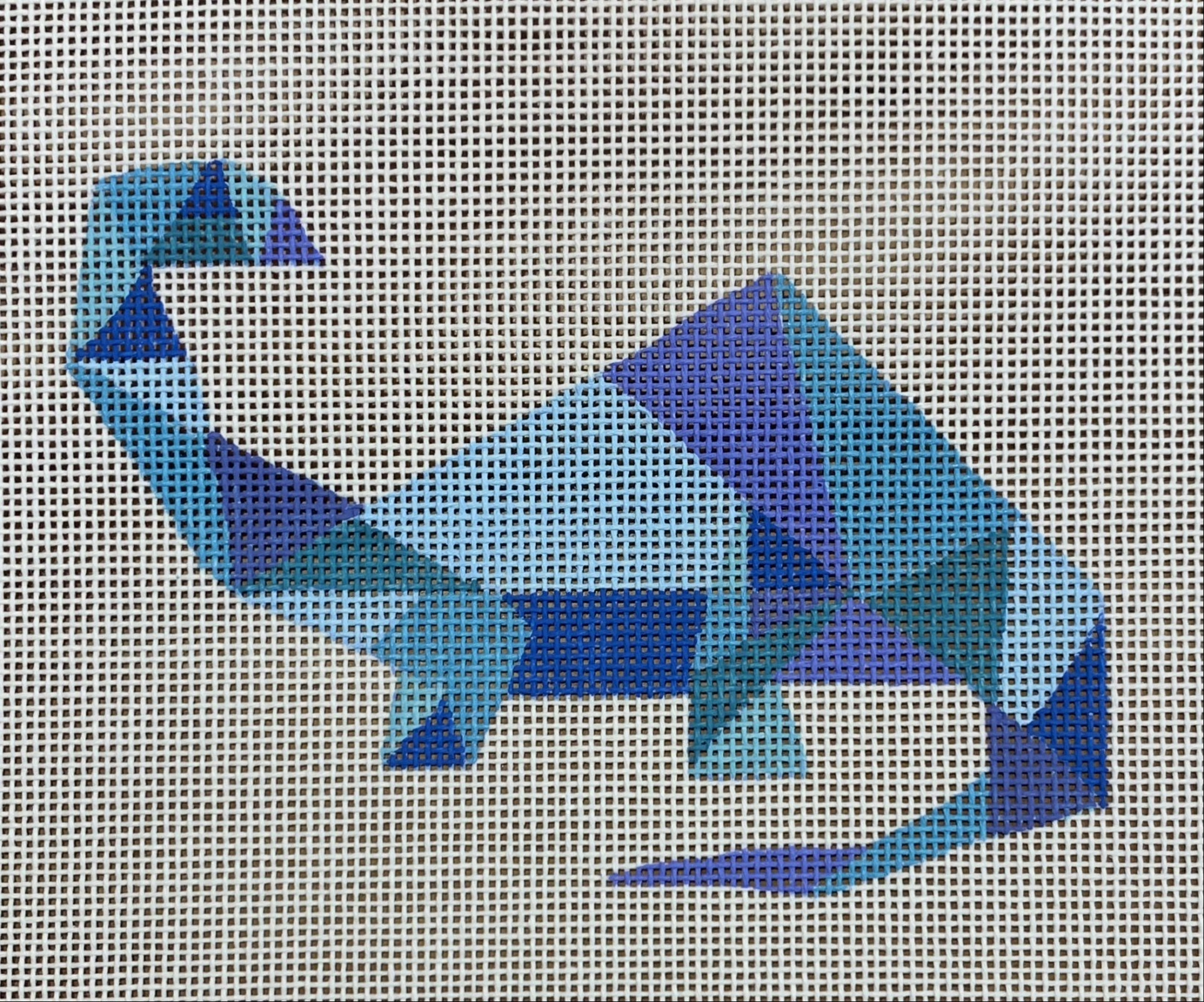 Blue Geometric Dinosaur