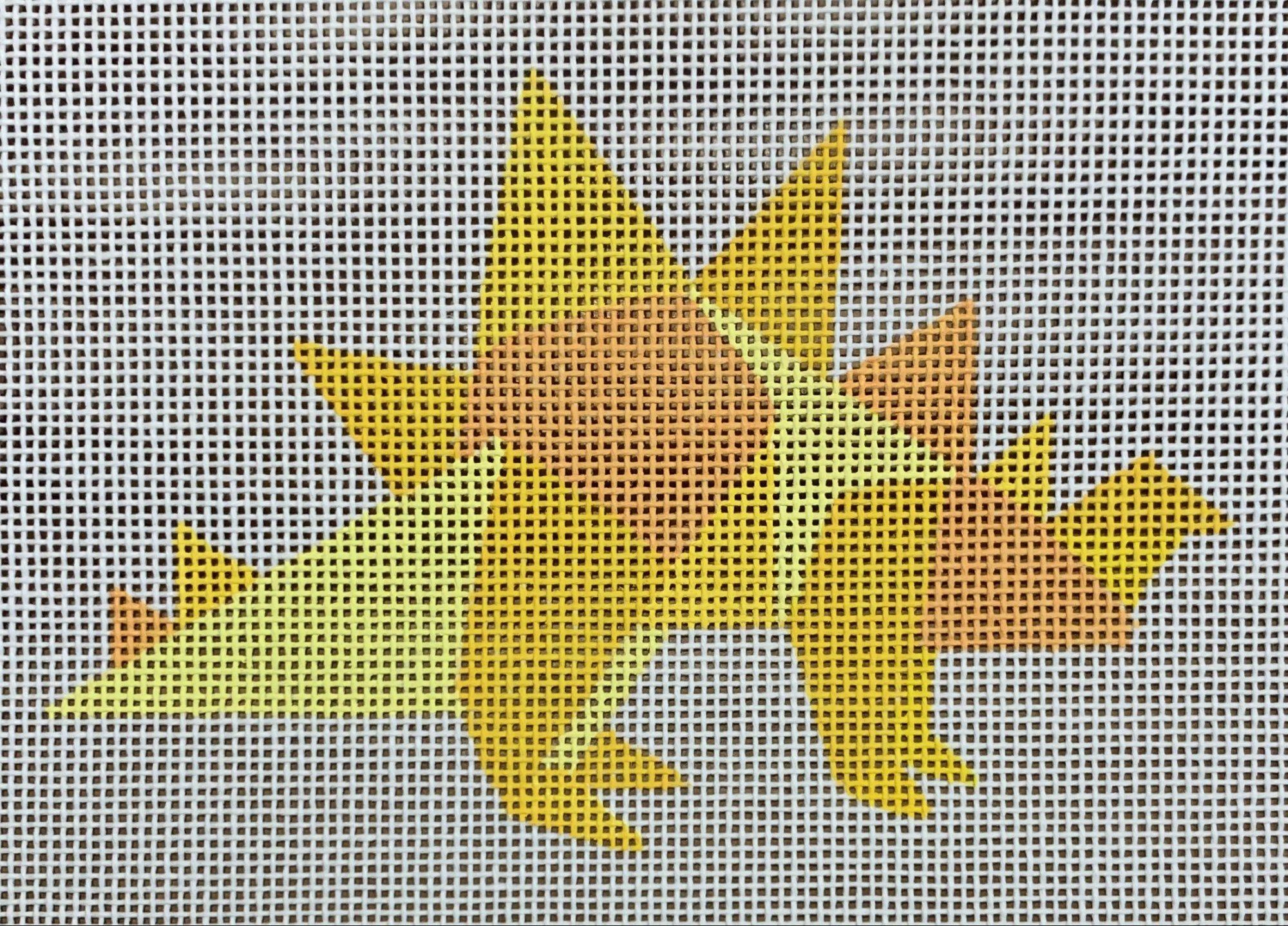 Yellow Geometric Dinosaur