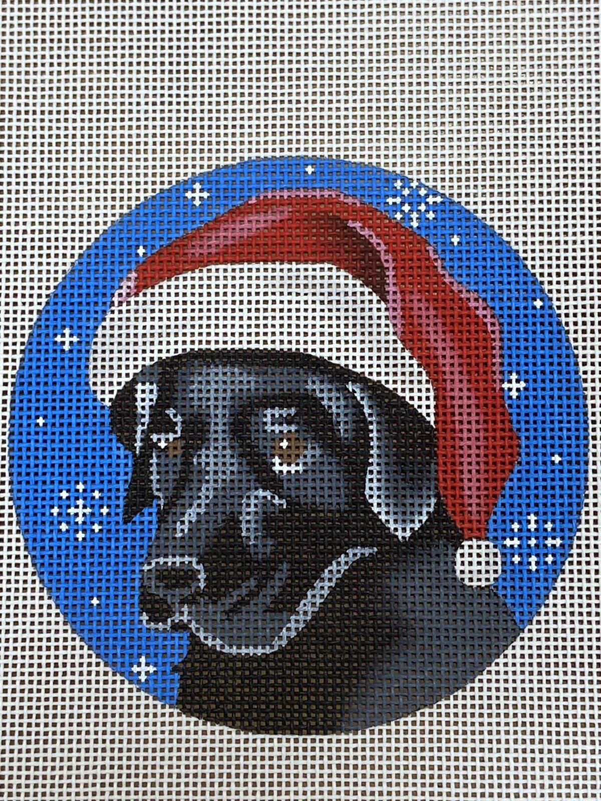 Black Lab Santa