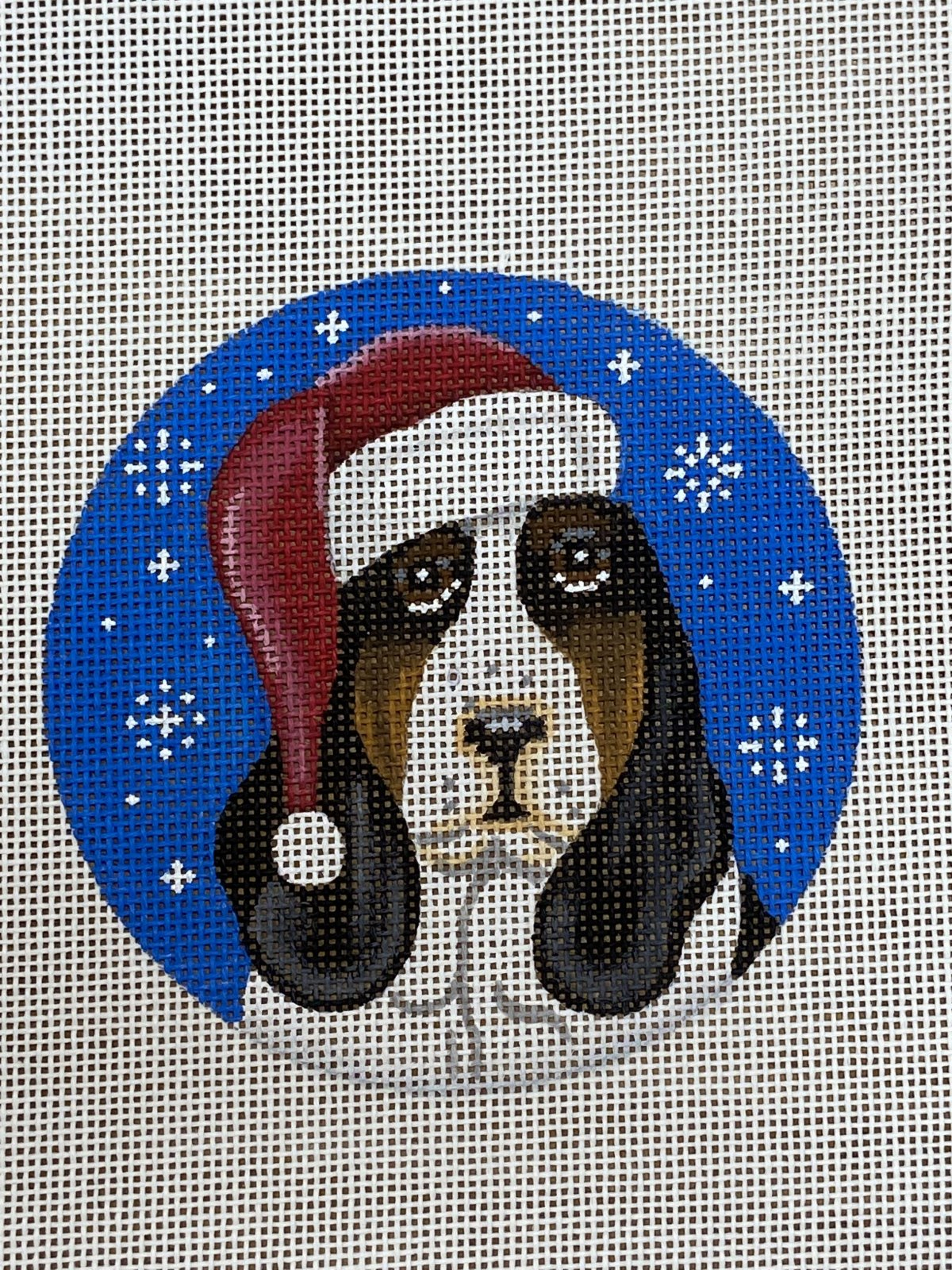 Bassett Hound Santa