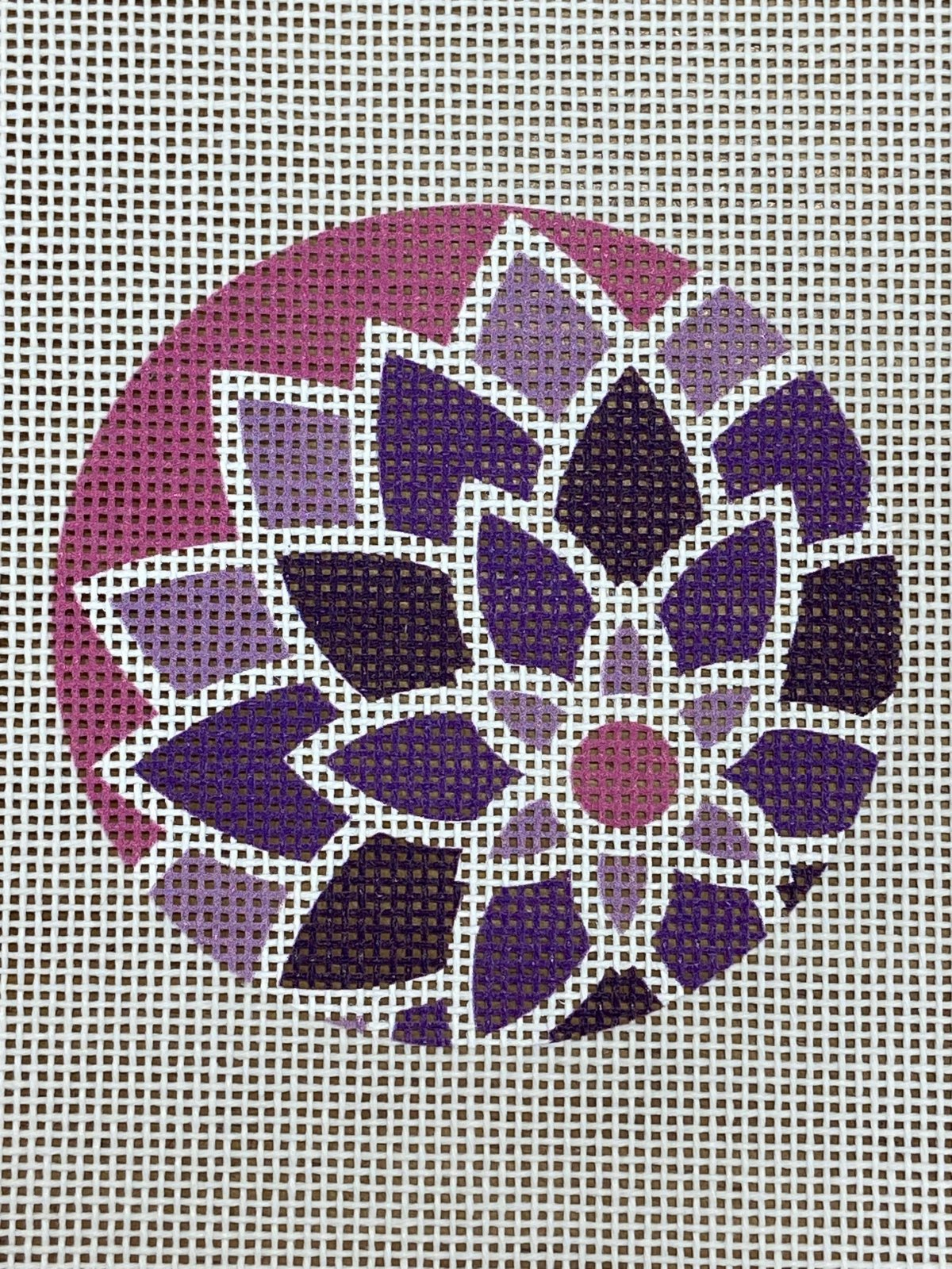 3 dia Graphic flower Purple