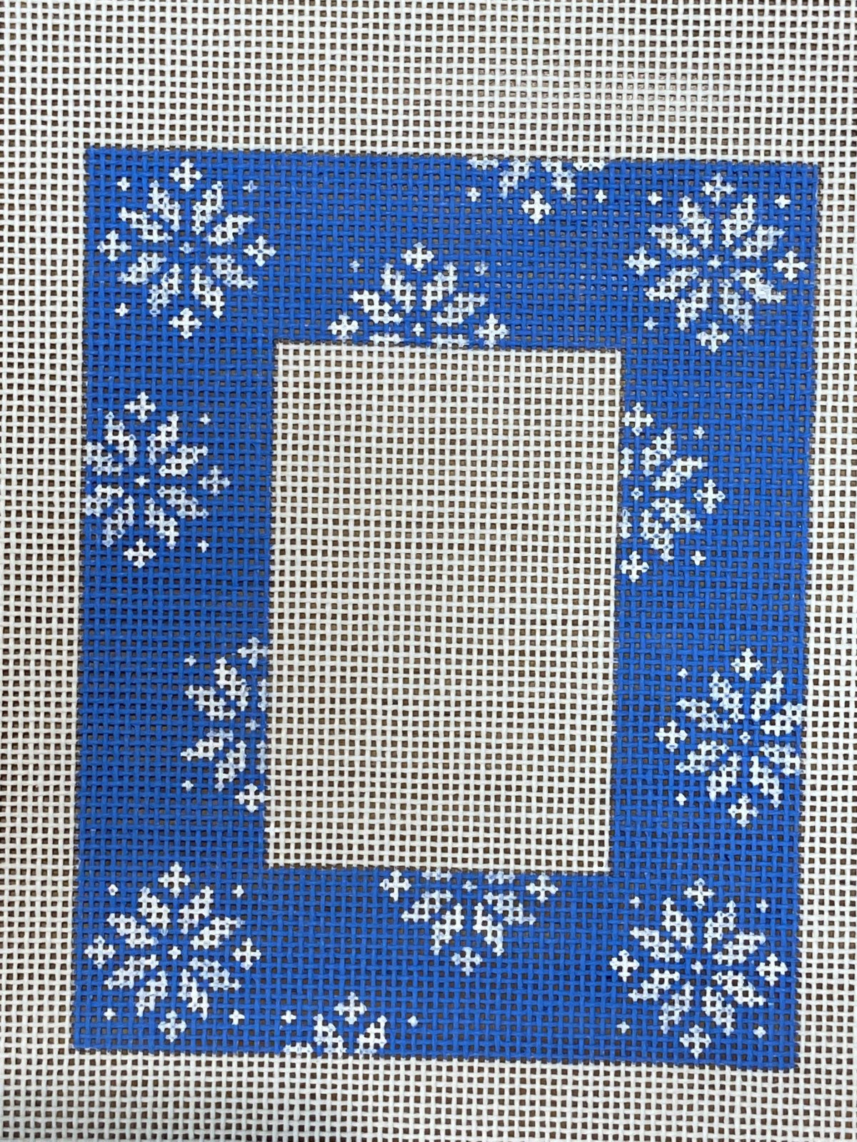 Blue Snowflake Frame